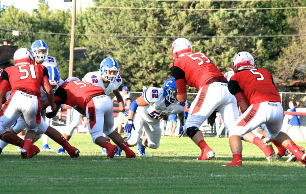 Trevor Roberson in action (Photo: Ginger Wilson, TexasHSFootball.com)