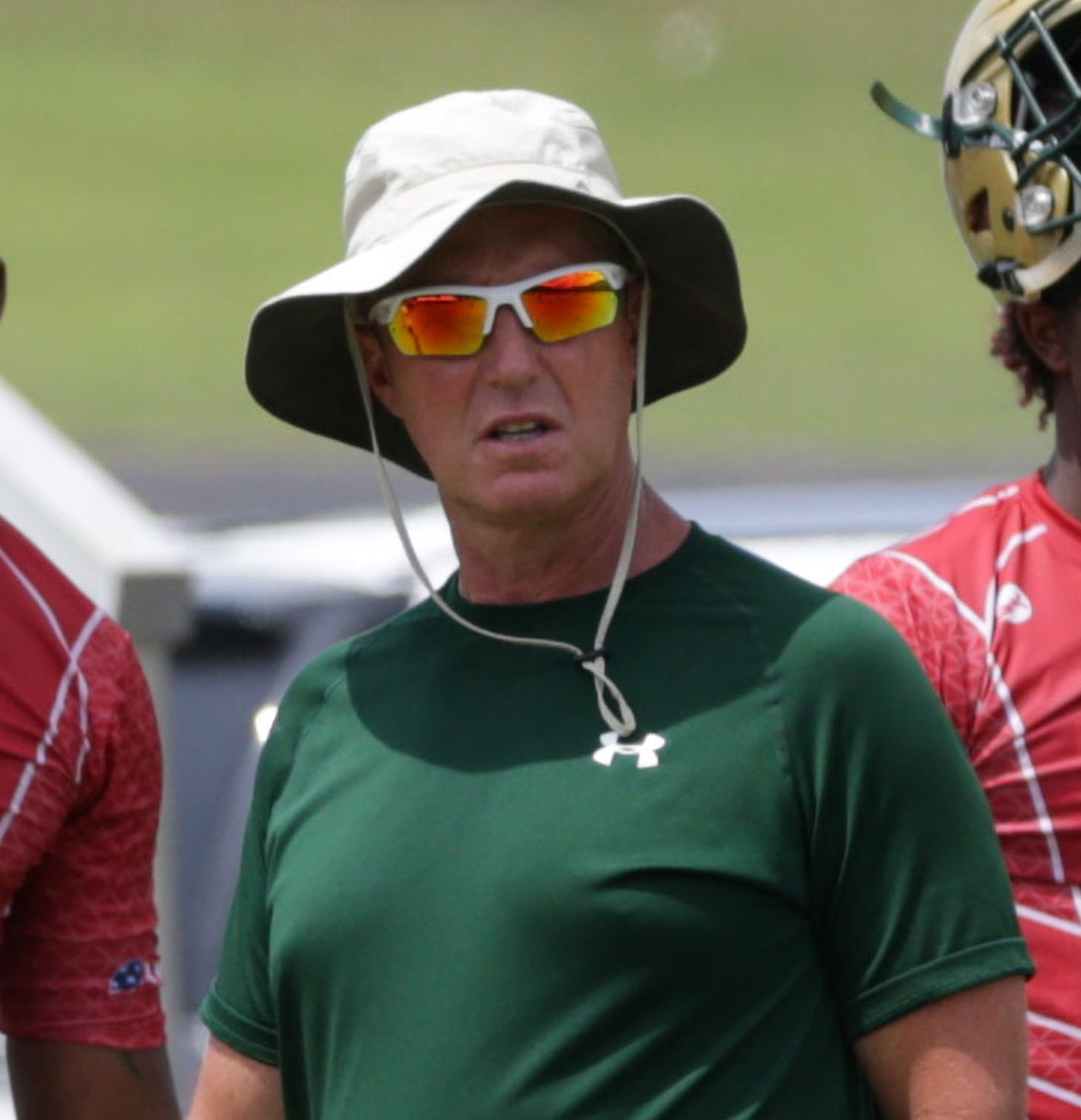 Jul 16, 2016; Hoover, AL, U.S.A -- Grayson head coach Jeff Herron during the USA Football 7on7 National Championship -- Photo by Marvin Gentry USA TODAY Sports Images, Gannett ORG XMIT: US 135185 7on7 7/15/2016 [Via MerlinFTP Drop]