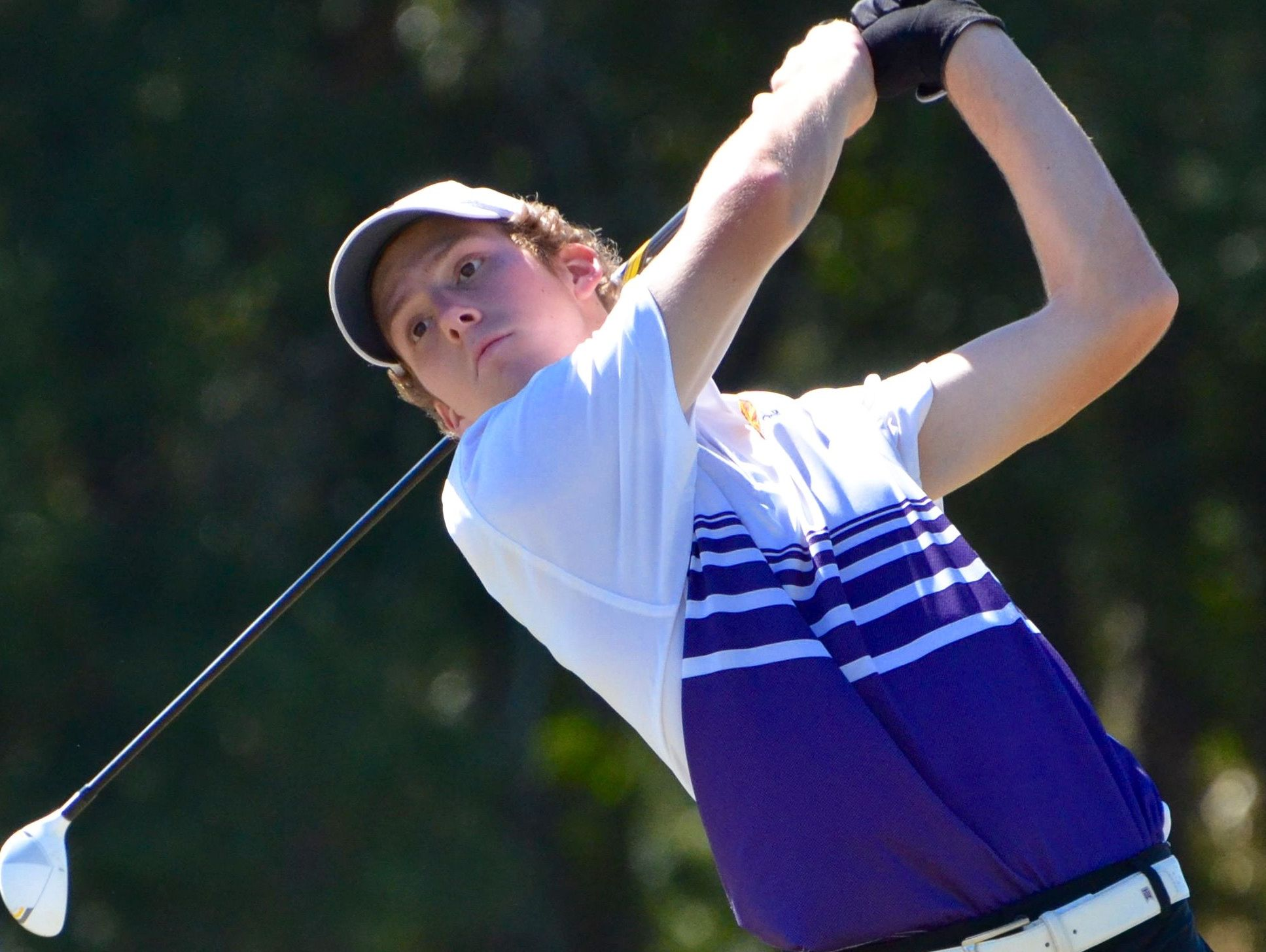 Father Ryan's Nick Wolf is tied for third at the Division II-AA boys golf state tournament