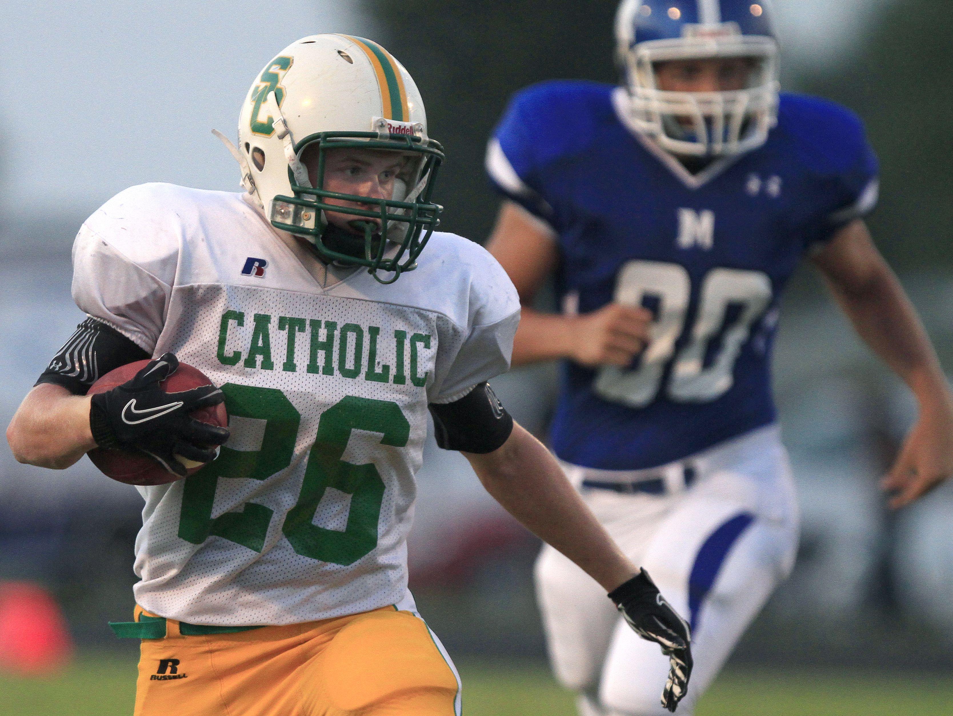 Marshfield vs. Catholic football at Marshfield on Friday, September 2, 2011. Nathan Papes/News-Leader