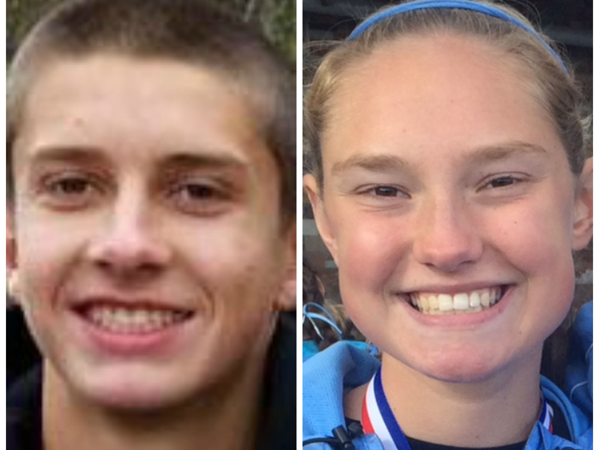 Corunna's Noah Jacobs, left, and Lansing Catholic's Olivia Theis have the top times in the Lansing area so far this fall.