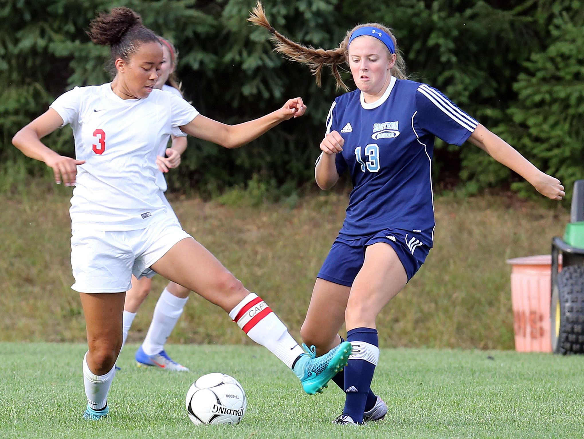 Suffern plays North Rockland during girls soccer game at North Rockland High School in Theills on Sept. 21, 2016.