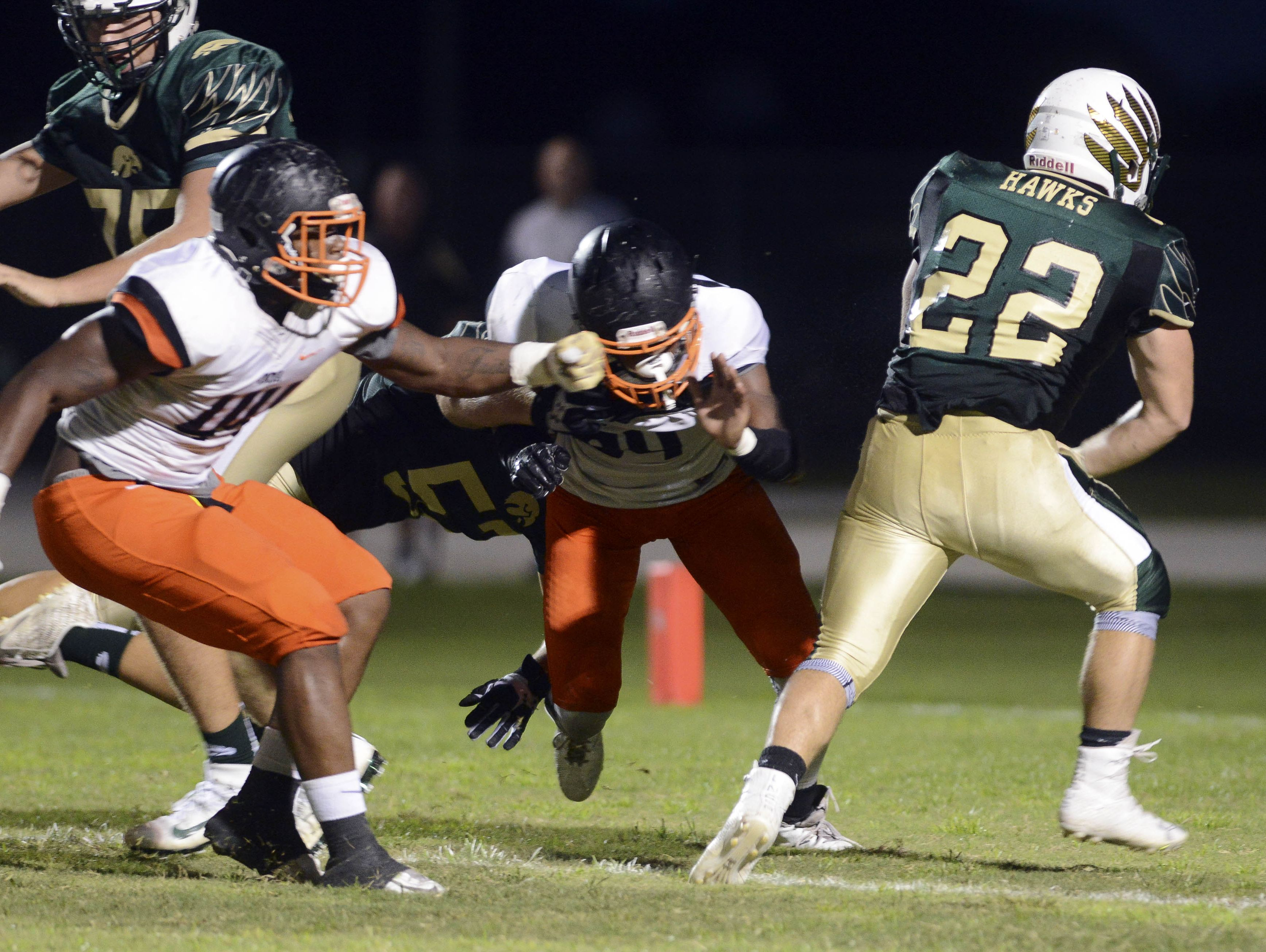 Brennen DePlancke (22) scores for Viera during Friday's game against Cocoa.