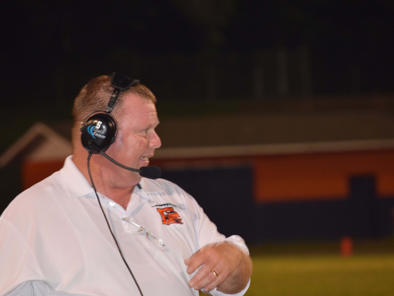 It became a tough night for Escambia High coach Mike Davis.