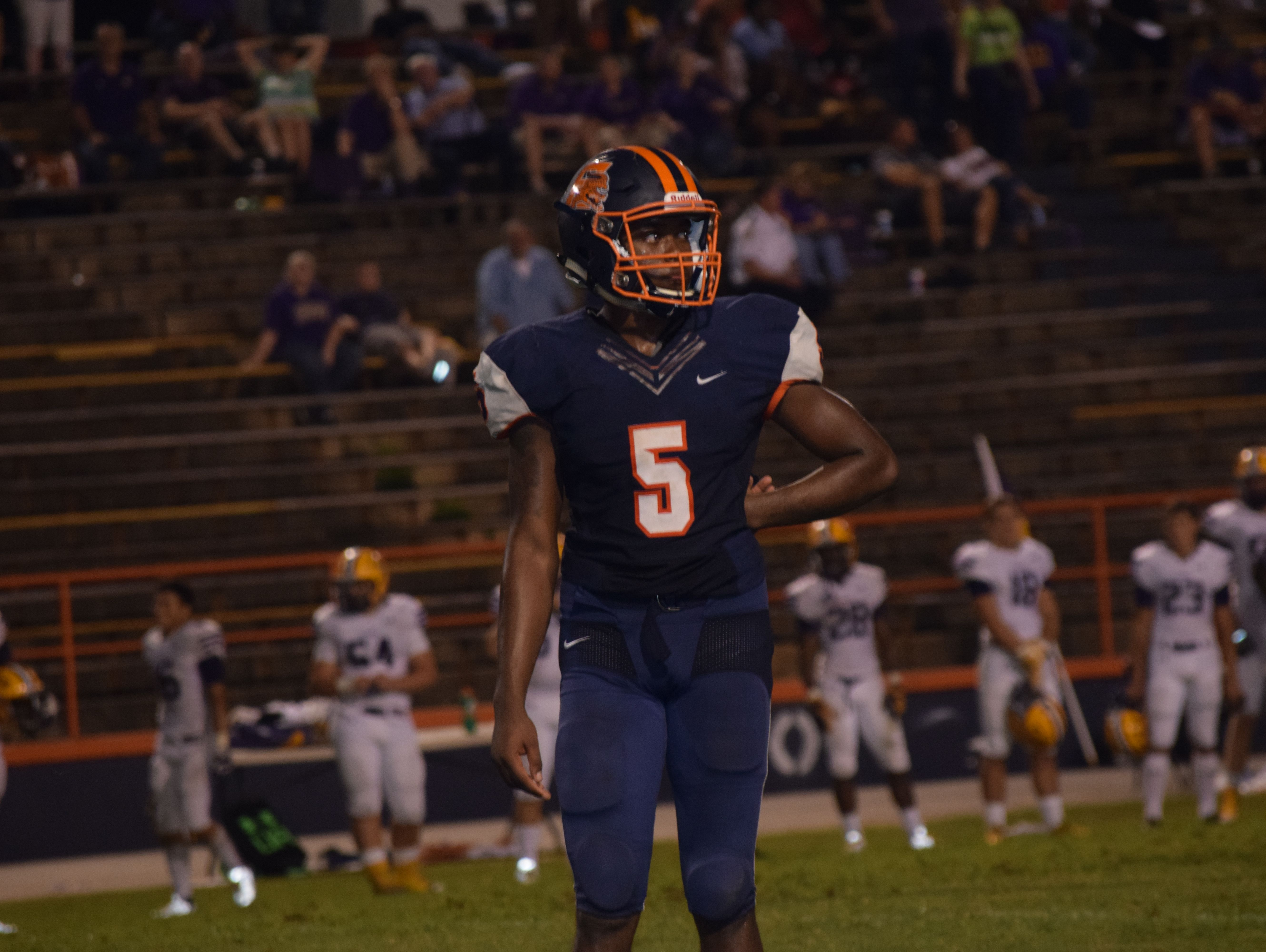 It was a tough night for Escambia High quarterback Z'khari Blocker and his teammates Friday night against Lake City-Columbia.