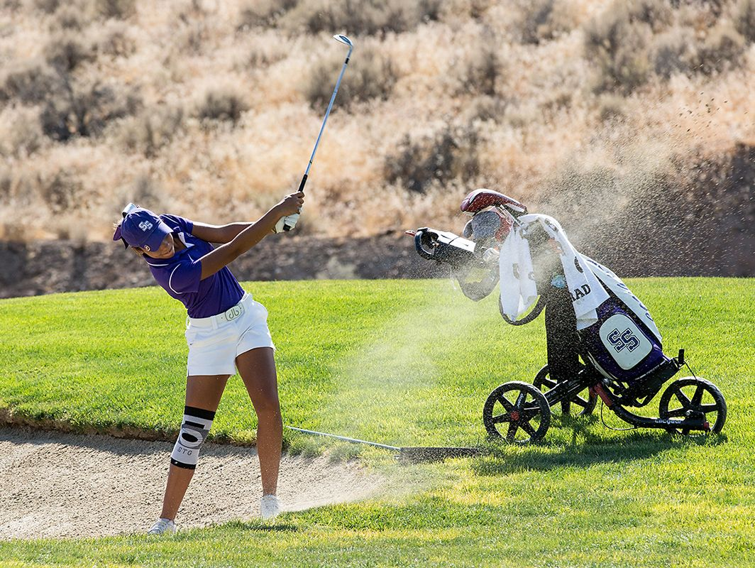 Jada McAlister from Spanish Springs shot a 74 Thursday to take medalist honors at Hidden Valley.