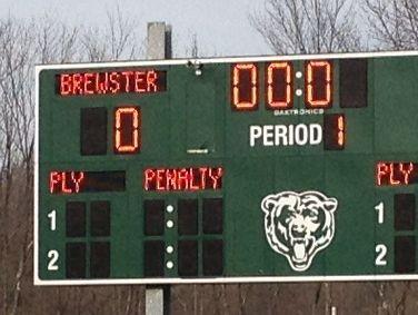 Brewster High School scoreboard.