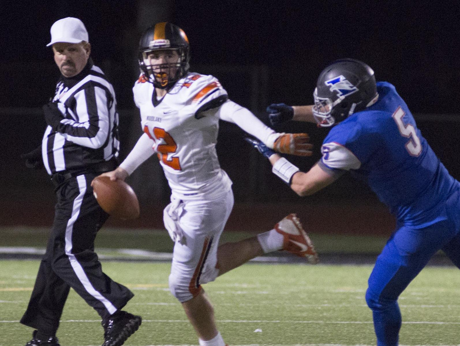 Woodlake freshman quarterback Robby Stevenson (12) was one of the top breakout stars of the 2015 Tulare County high school football season.