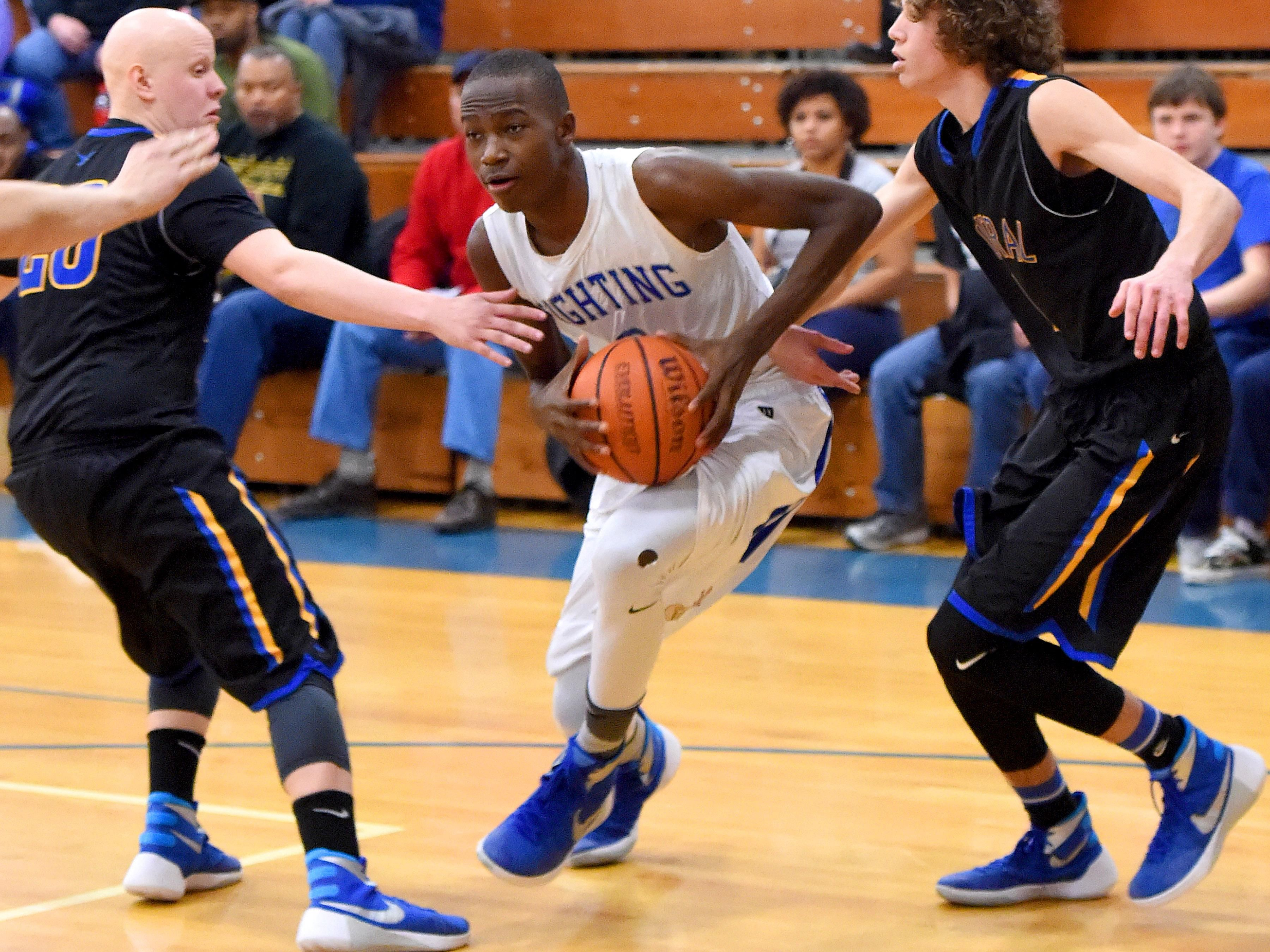 Robert E. Lee's Darius George committed to play basketball at Marshall University next season. Marshall offered him a scholarship Thursday afternoon, Sept. 15.