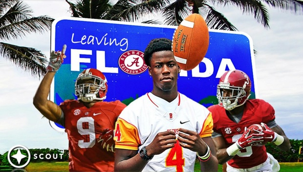 Left to right: Amari Cooper, Jerry Jeudy, and Calvin Ridley. (Photo: Scout.com)