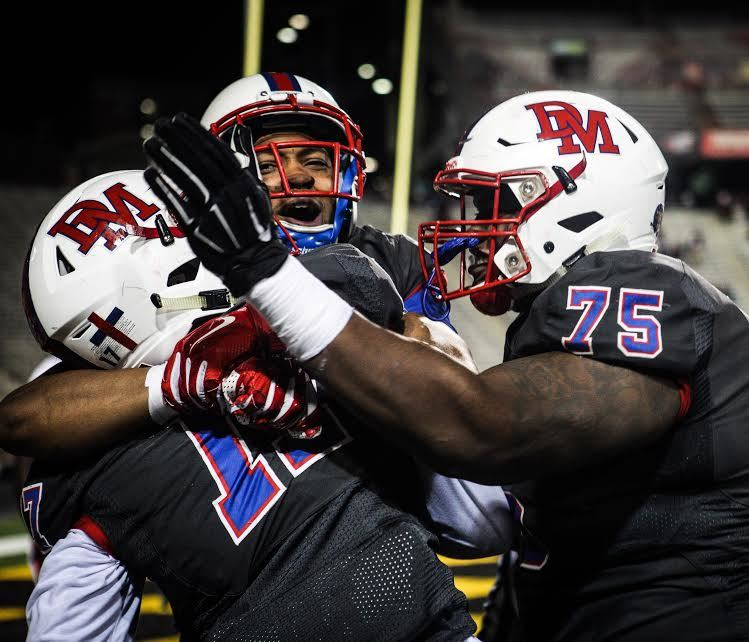 No. 4 DeMatha Catholic (Hyattesville) played McDonogh (Owings Mills, Md.) on Friday. (Photo: DeMatha football).