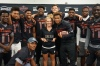 IMG players presented their Athletic Trainer Lauren Askevold with the Dream Champion Award. (Photo: Intersport)