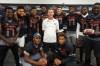 Coach Kevin Wright is surrounded by his 10 All-Americans: Robert Beal Jr. (DE), Kellen Mond (QB), Robert Hainsey (T), Cesar Ruiz (C), Dylan Moses (LB), Isaiah Pryor (S), Marcus Williamson (CB), Joshua Kaindoh (DE), Grant Delpit (S), Jhamon Ausbon (WR) (Photo: Intersport)