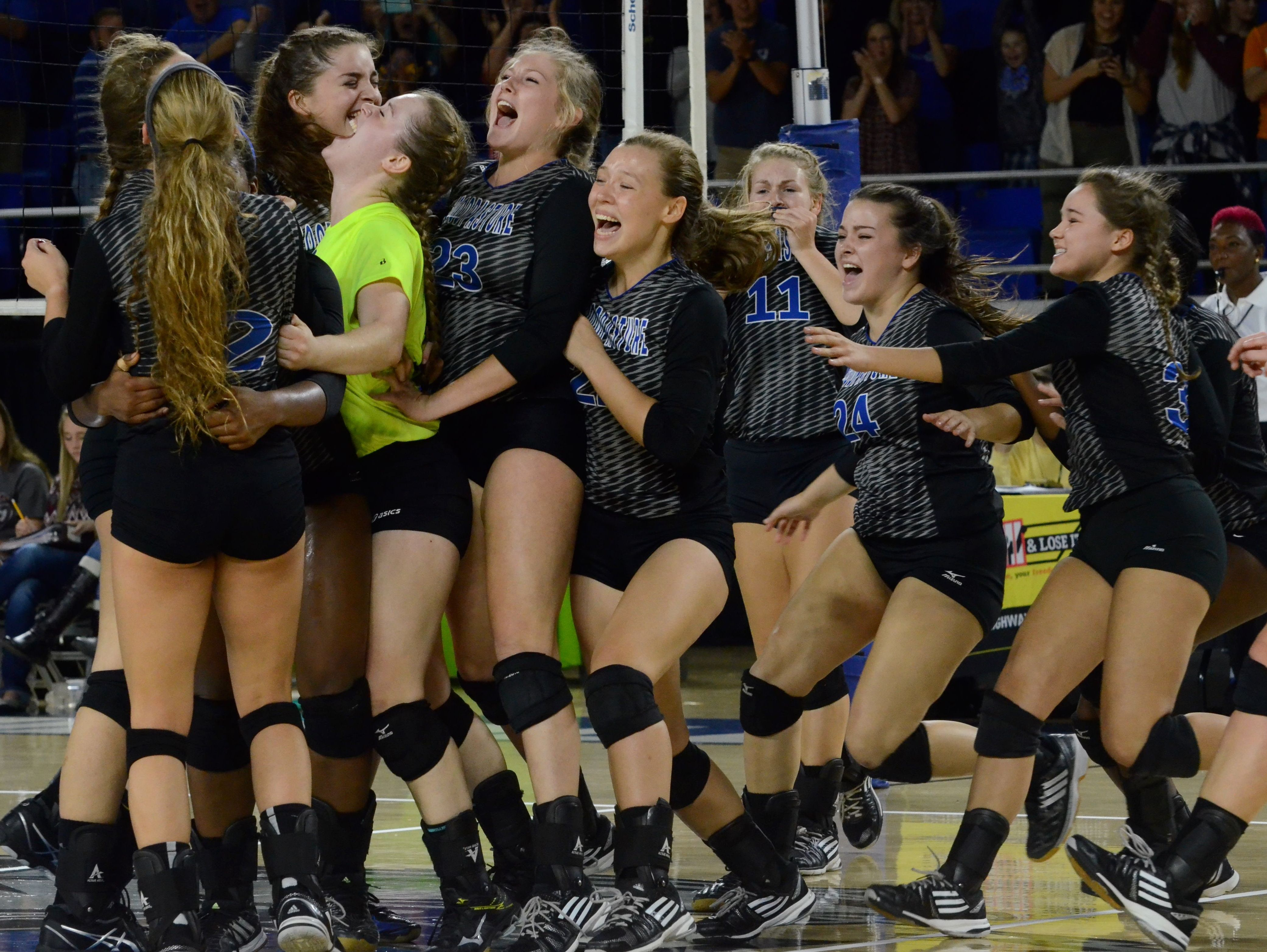 Goodpasture's volleyball team has won four consecutive Division I Class A state championships.