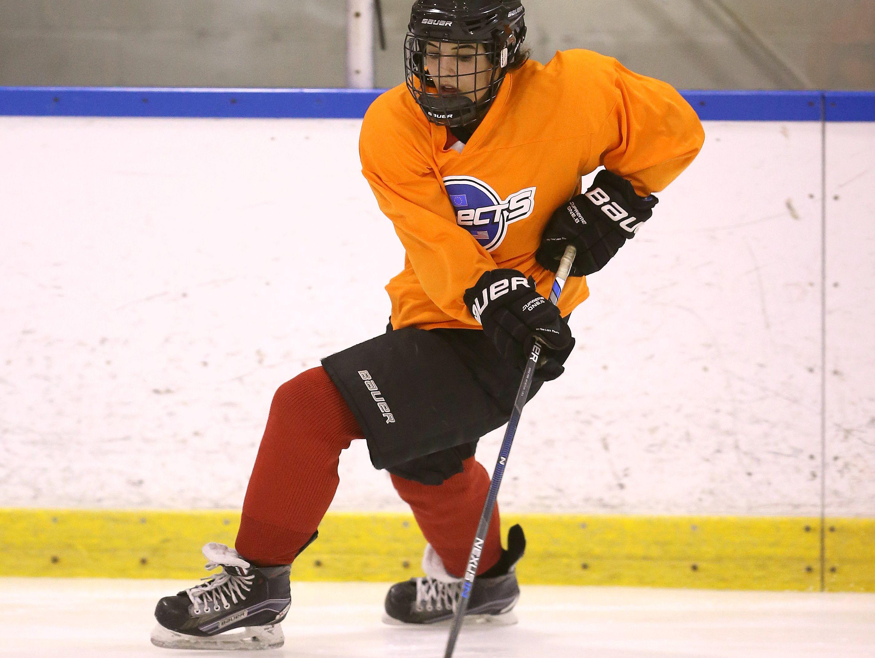 Bishop Kearney's Sydney Bard during an early season hockey practice. Kearney is in its first year of having an elite girls hockey program.
