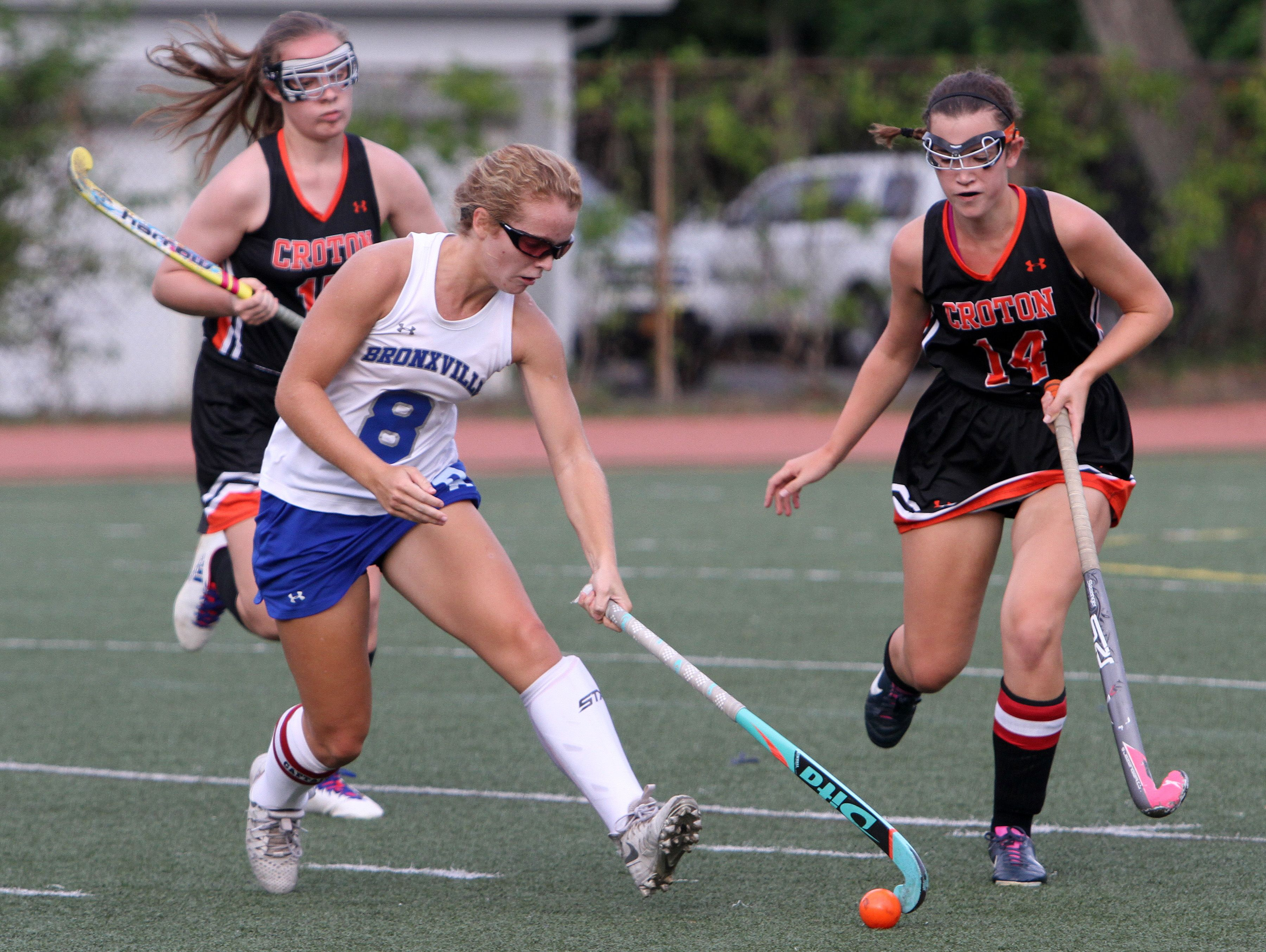 Bronxville defeated Croton 3-1 in field hockey action at Bronxville High School Sept. 20, 2016.