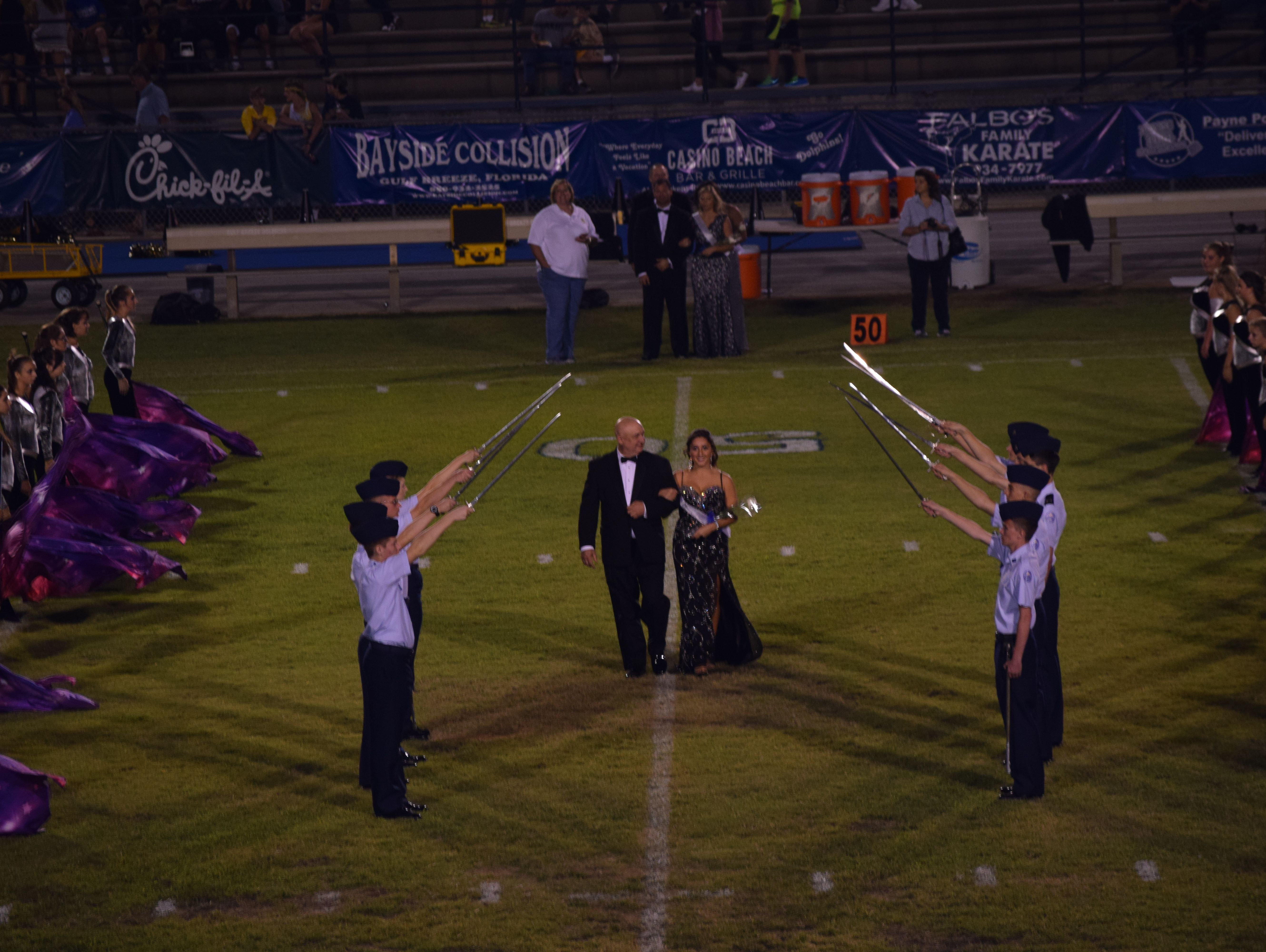 Homecoming court at Gulf Breeze High.
