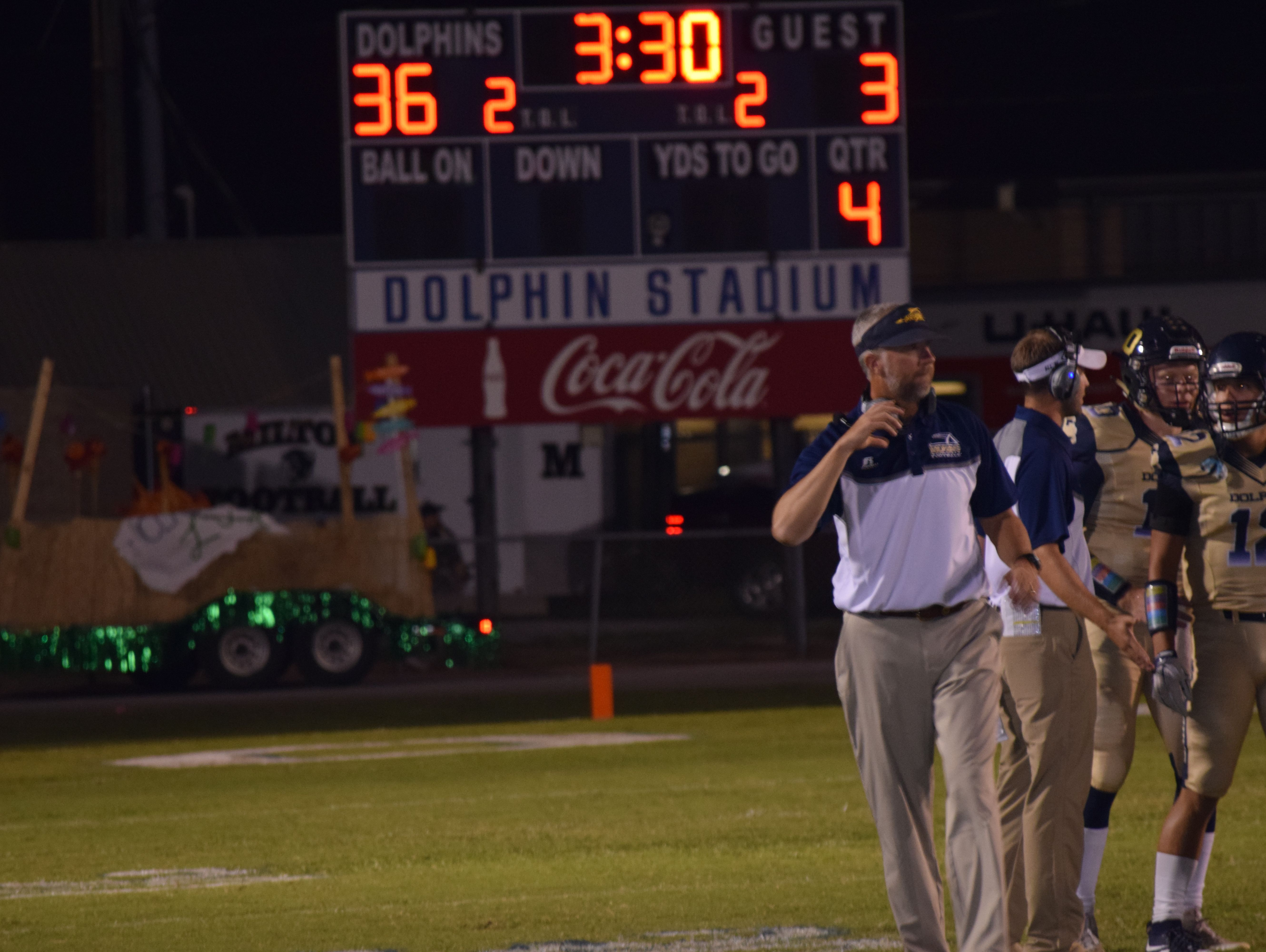 It was a good night for Gulf Breeze coach Bobby Clayton at homecoming with his alma mater winning big.
