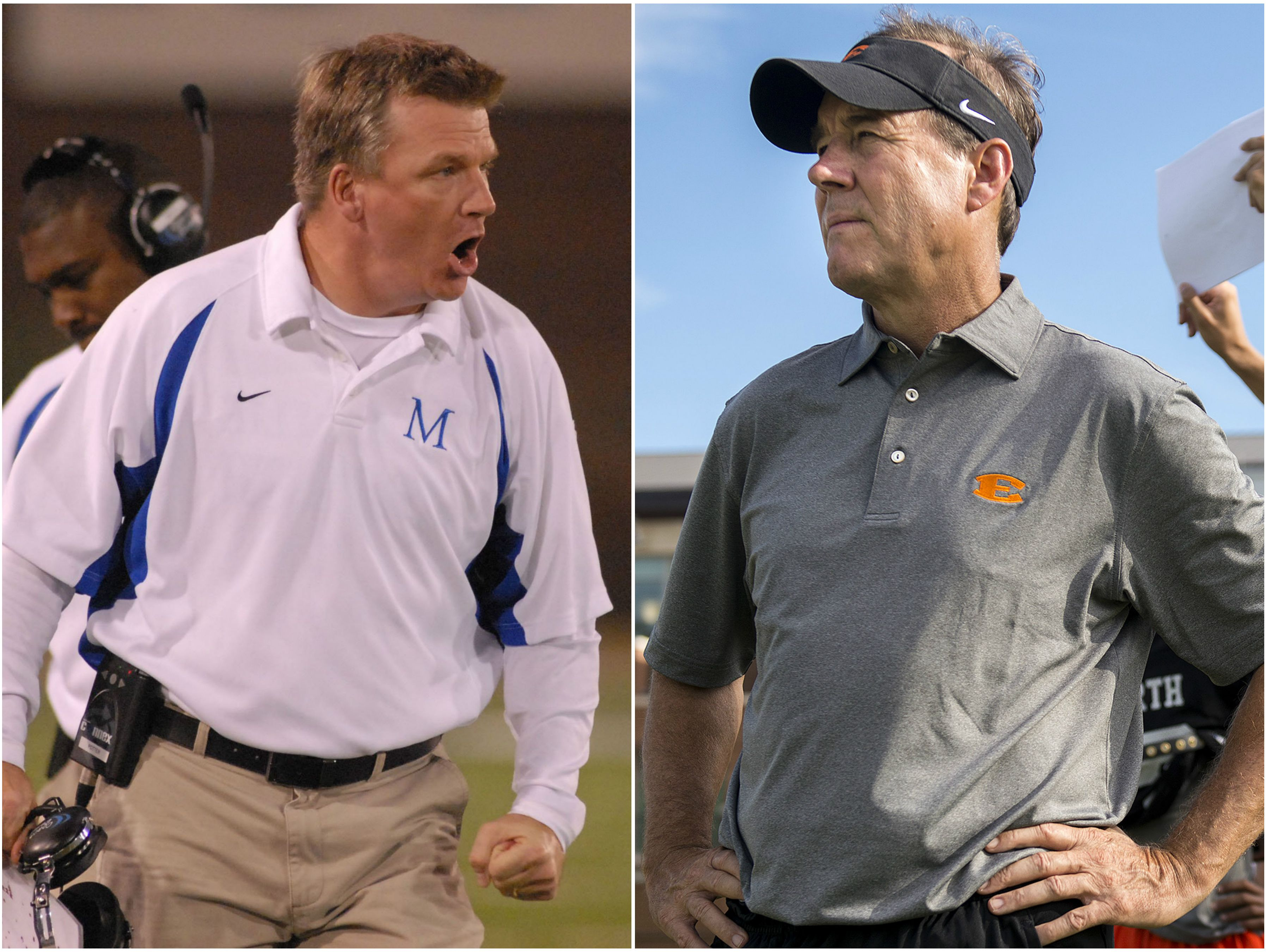 McCallie coach Ralph Potter (left) and Ensworth coach Ricky Bowers (right)
