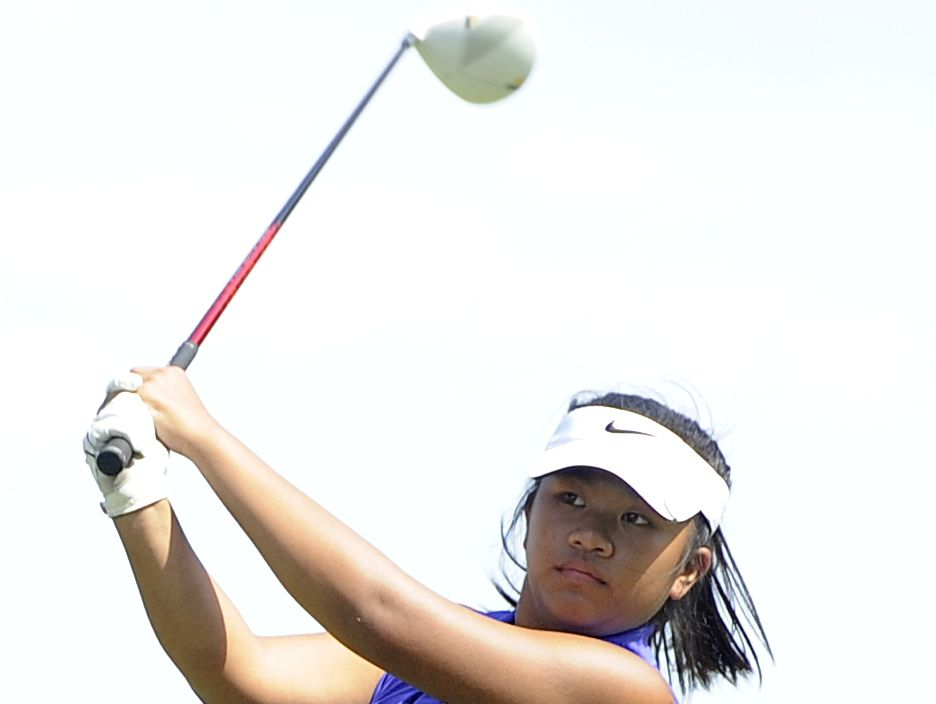 Lipscomb Academy's Christina Vetvong watches her tee shot on hole No. 1. Vetvong placed fifth at the Class A-AA State Tournament with a two-round total of 158.