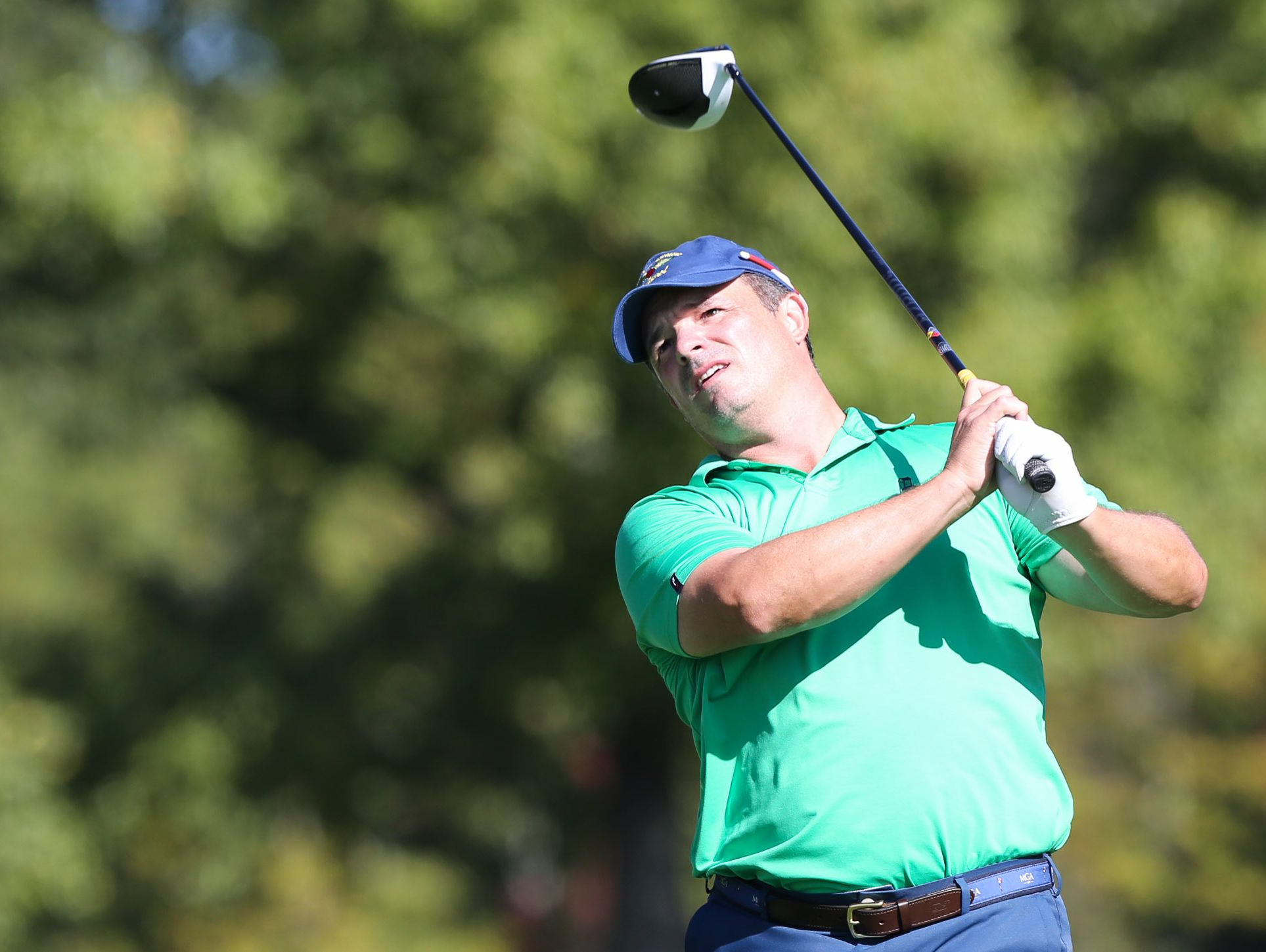 Trevor Randolph of Arcola C.C. in New Jersey got a repeat win at the MGA Mid-Amateur Championship on Thursday at Tamarack C.C.