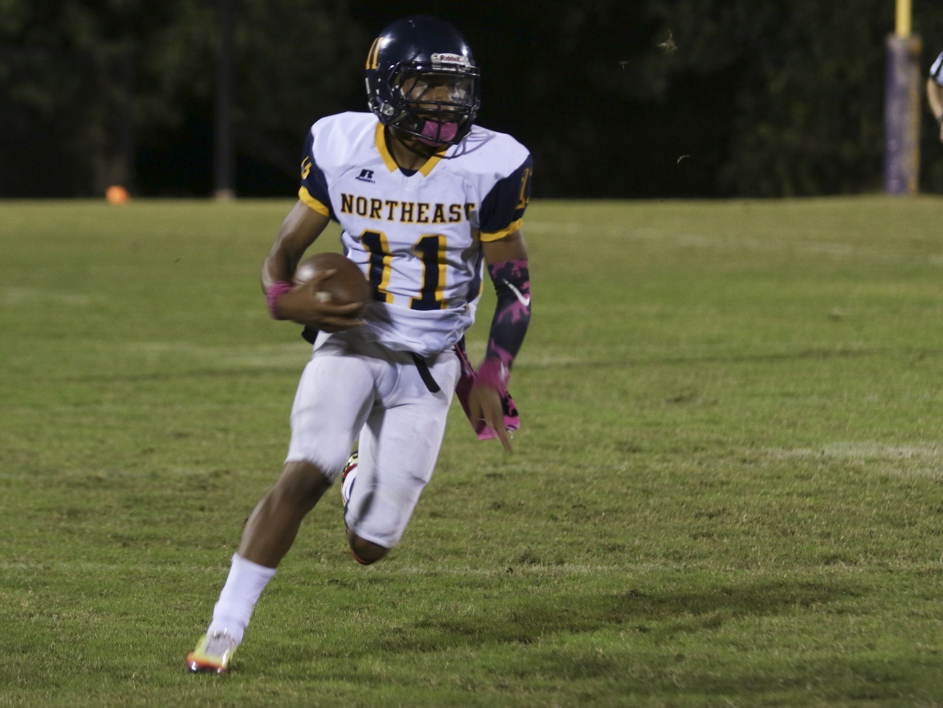 Northeast junior Gus Antoine (11) ran for nearly 200 yards and four touchdowns on just 10 carries in Friday's win over Clarksville.
