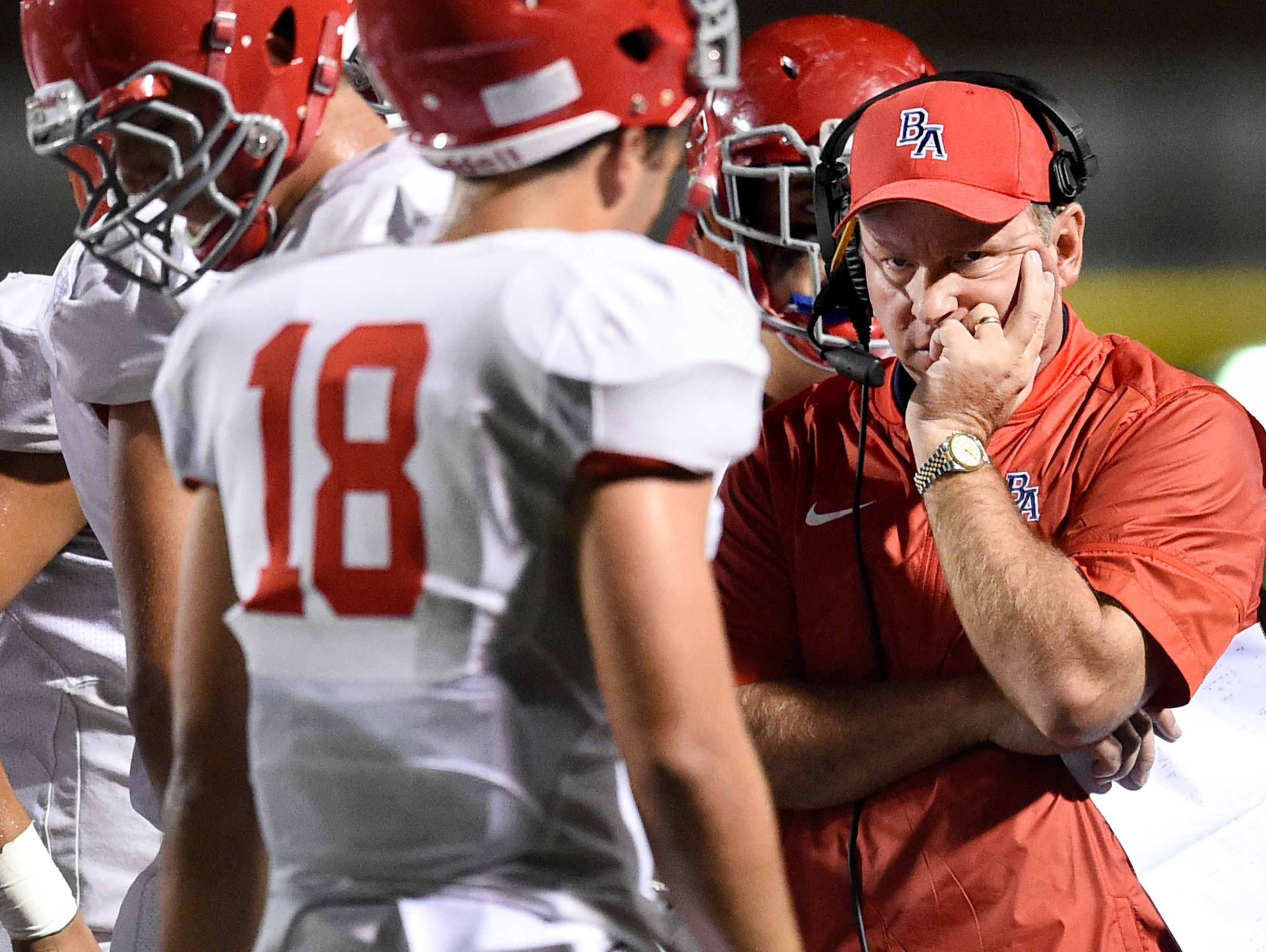 Brentwood Academy coach Cody White