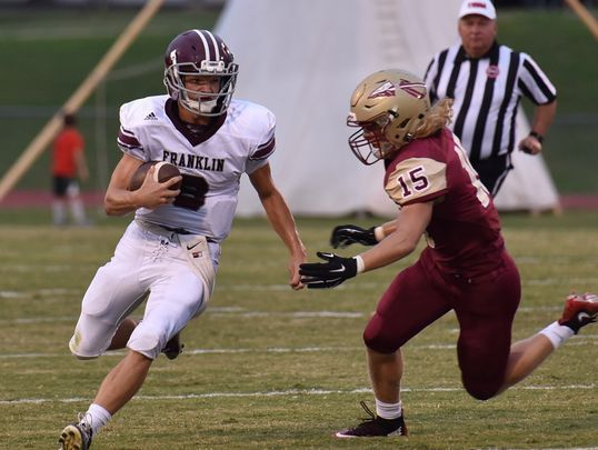Franklin's Wes Patterson accounted for four touchdowns in Thursday's win over Wilson Central.