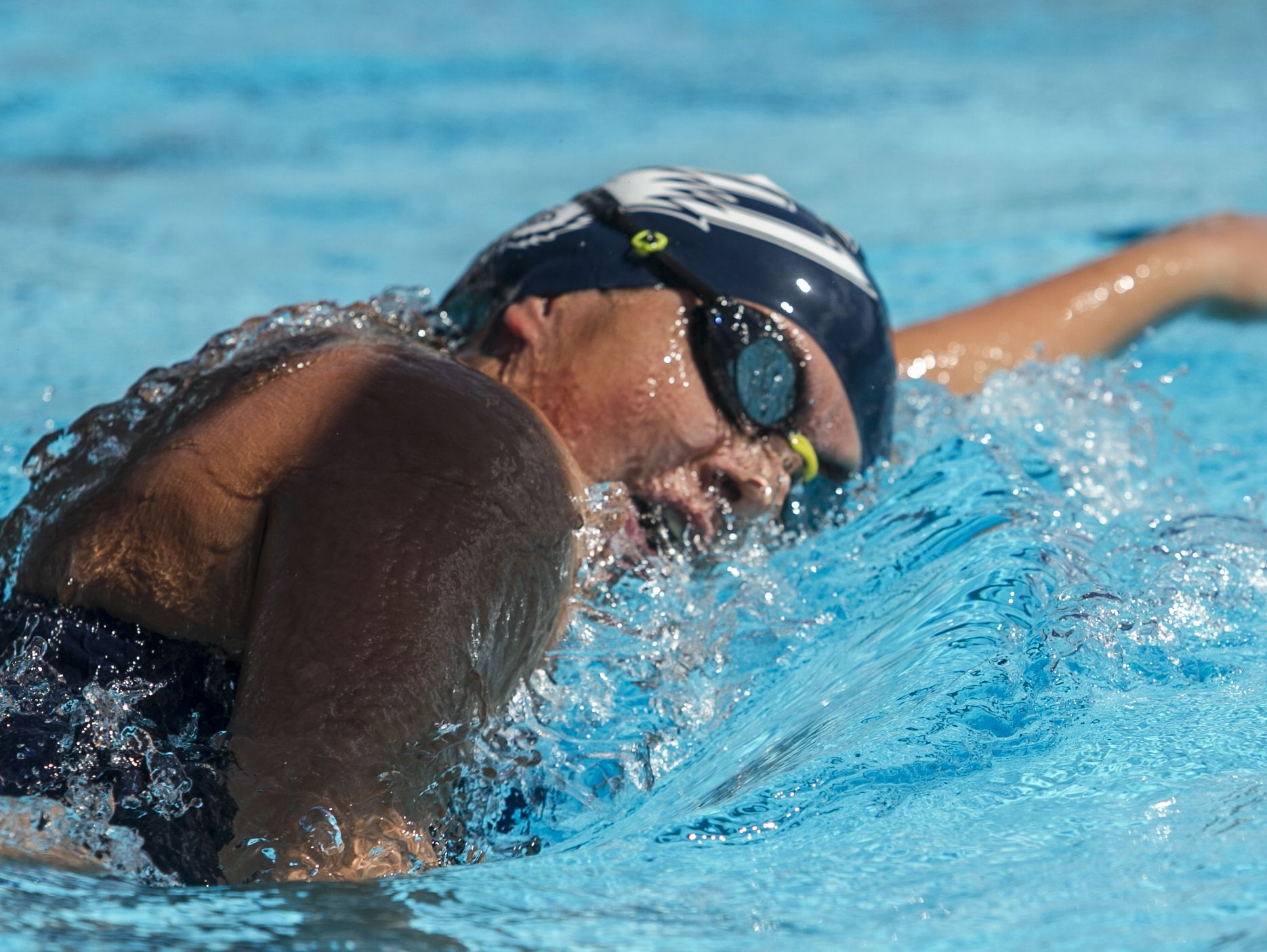 Jenny Vargas, a swimmer from Estero High School, won the second heat of the girls 500m freestyle competition Monday afternoon. The meet was part of the Lee County Athletic Conference swimming championships held at FGCU.