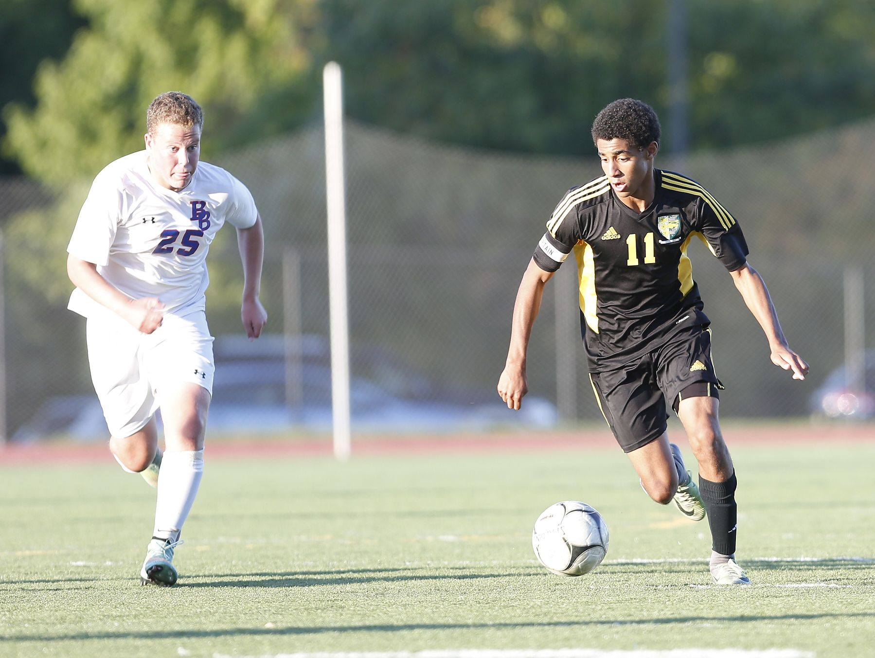 Hastings tops Blind Brook 3-0 in boys soccer action at Blind Brook High School in Rye Brook on Tuesday, October 11, 2016.