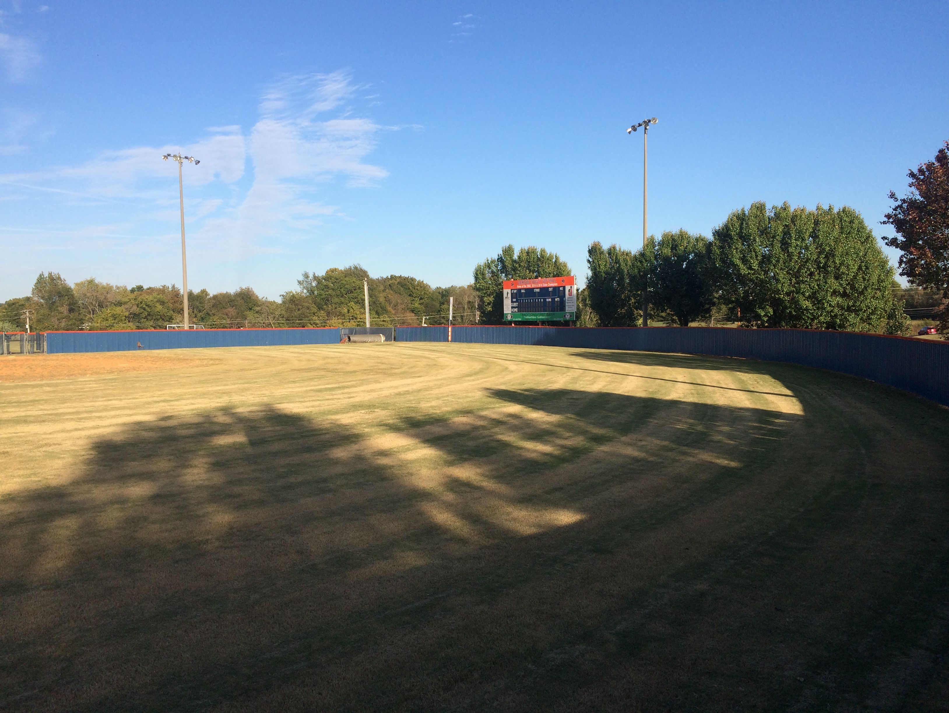 Dickson County's softball field will have a new drainage system put in place during the offseason.