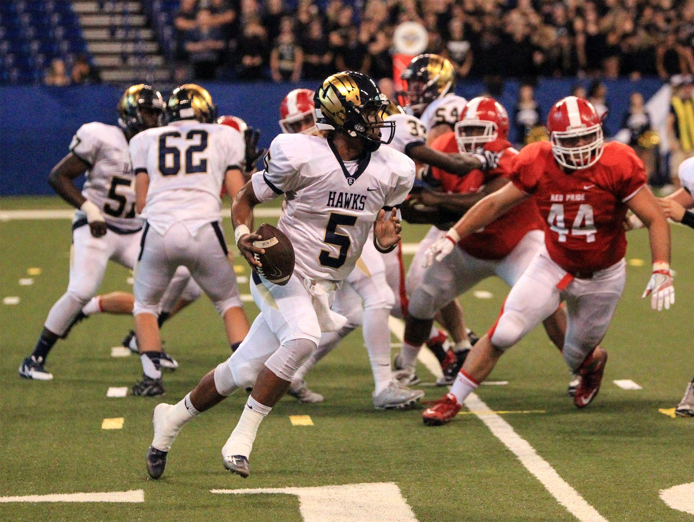 Decatur Central's Bryce Jefferson threw for 259 yards and six touchdowns in the first half against Franklin.