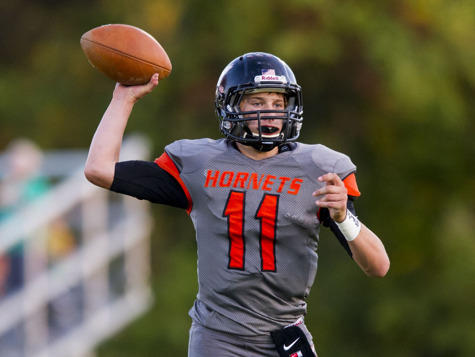 Beech Grove's Chase Andries threw for 420 yards and five touchdowns in the Hornets' 49-21 win over Mooresville.