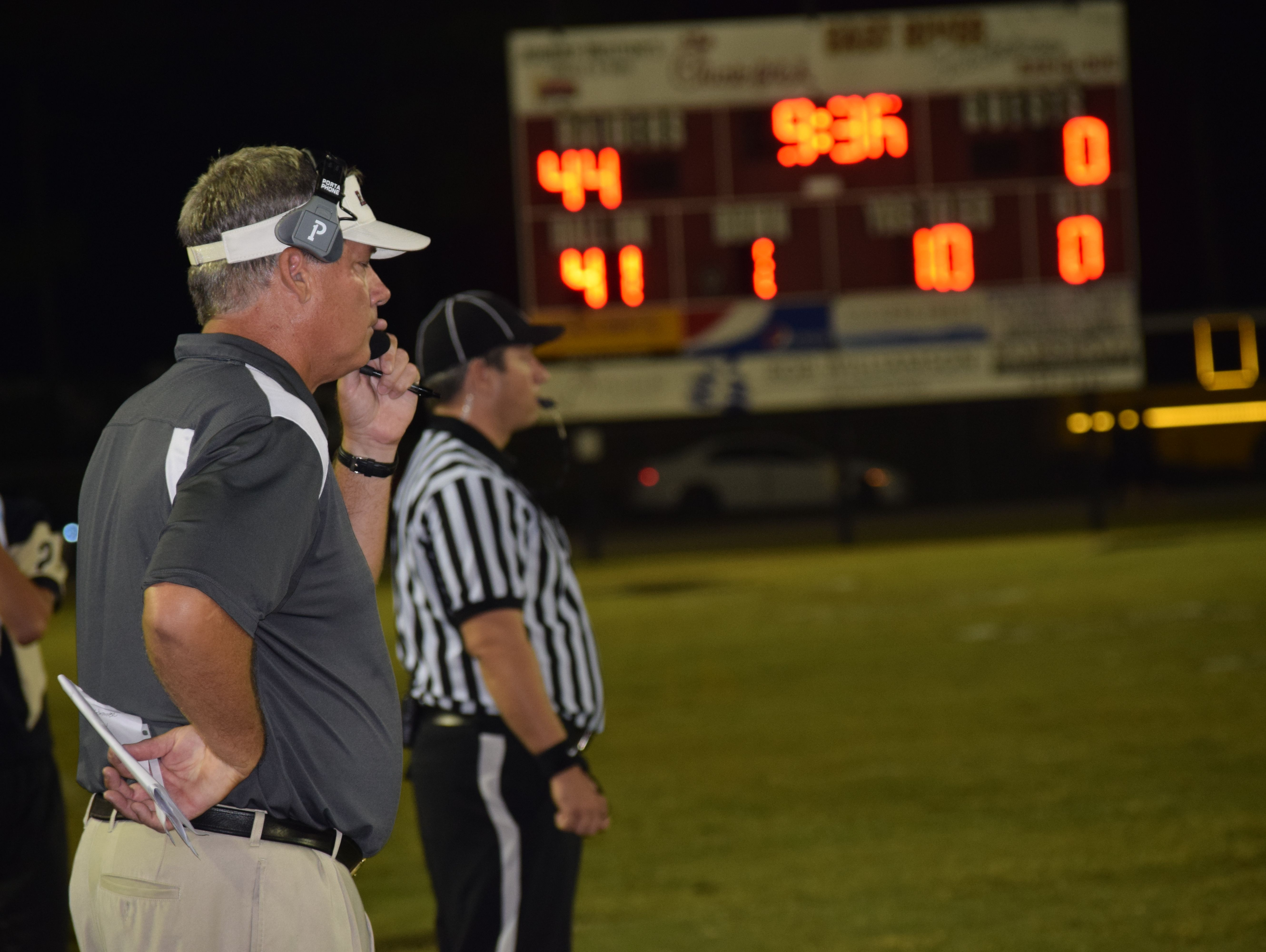 Navarre coach Jay Walls and his team enjoyed a complete performance Friday night against Milton.
