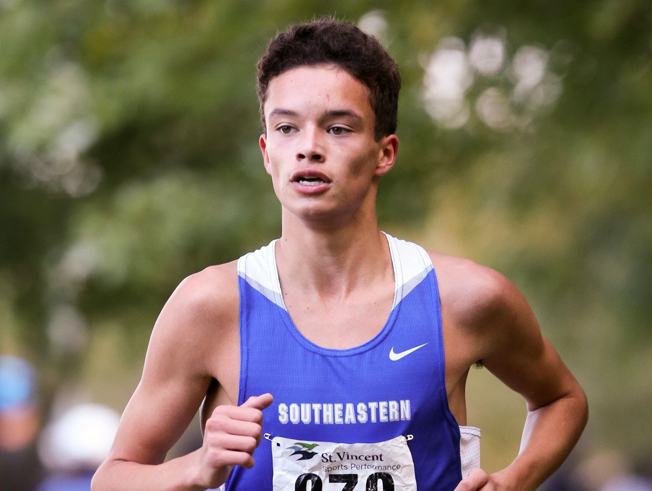 Hamilton Southeastern's Gabe Fendel captured the Noblesville regional crown Saturday in the boys race.