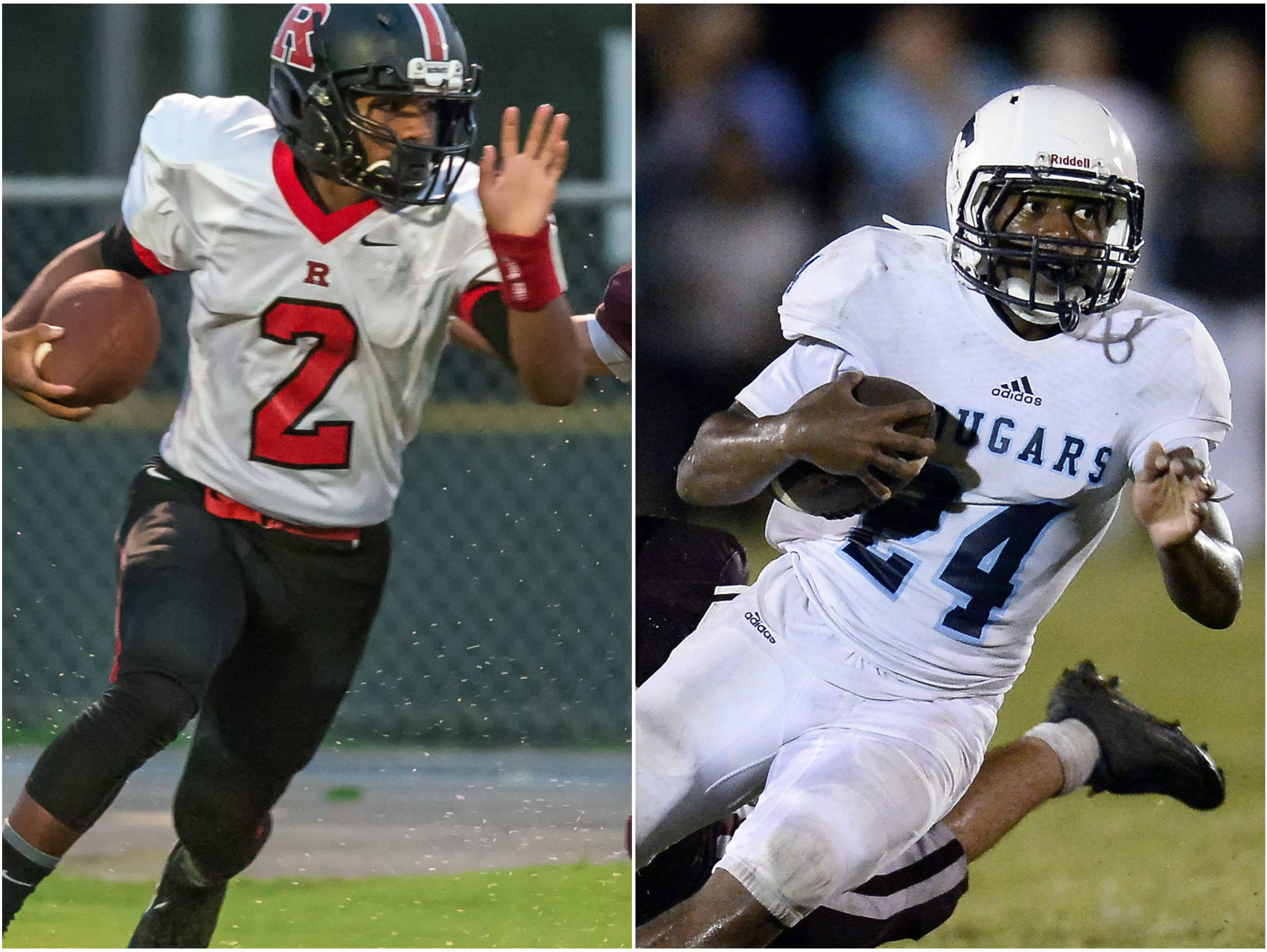 Rossview running back Fred Orr (left) and Centennial running back Zyon Lee.