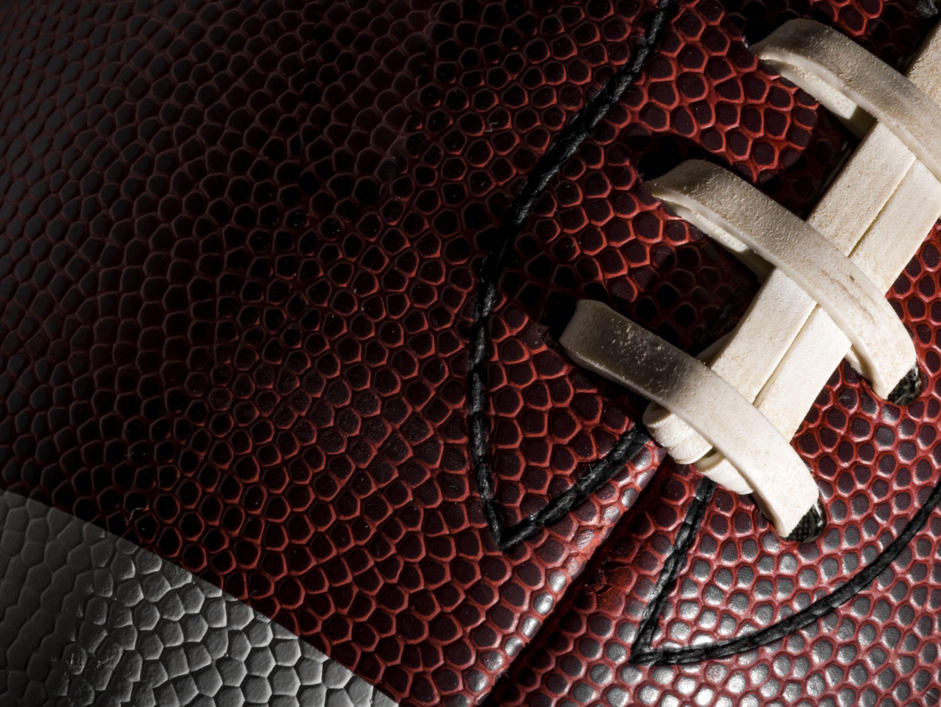 Stock image of football closeup.