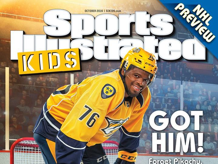 Predators team photographer John Russell shot P.K. Subban for the October issue of Sports Illustrated KIDS.