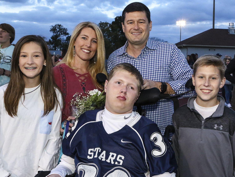 The Bramble family, from left, Macie, Christy, Baylor, David and Brady Bramble.