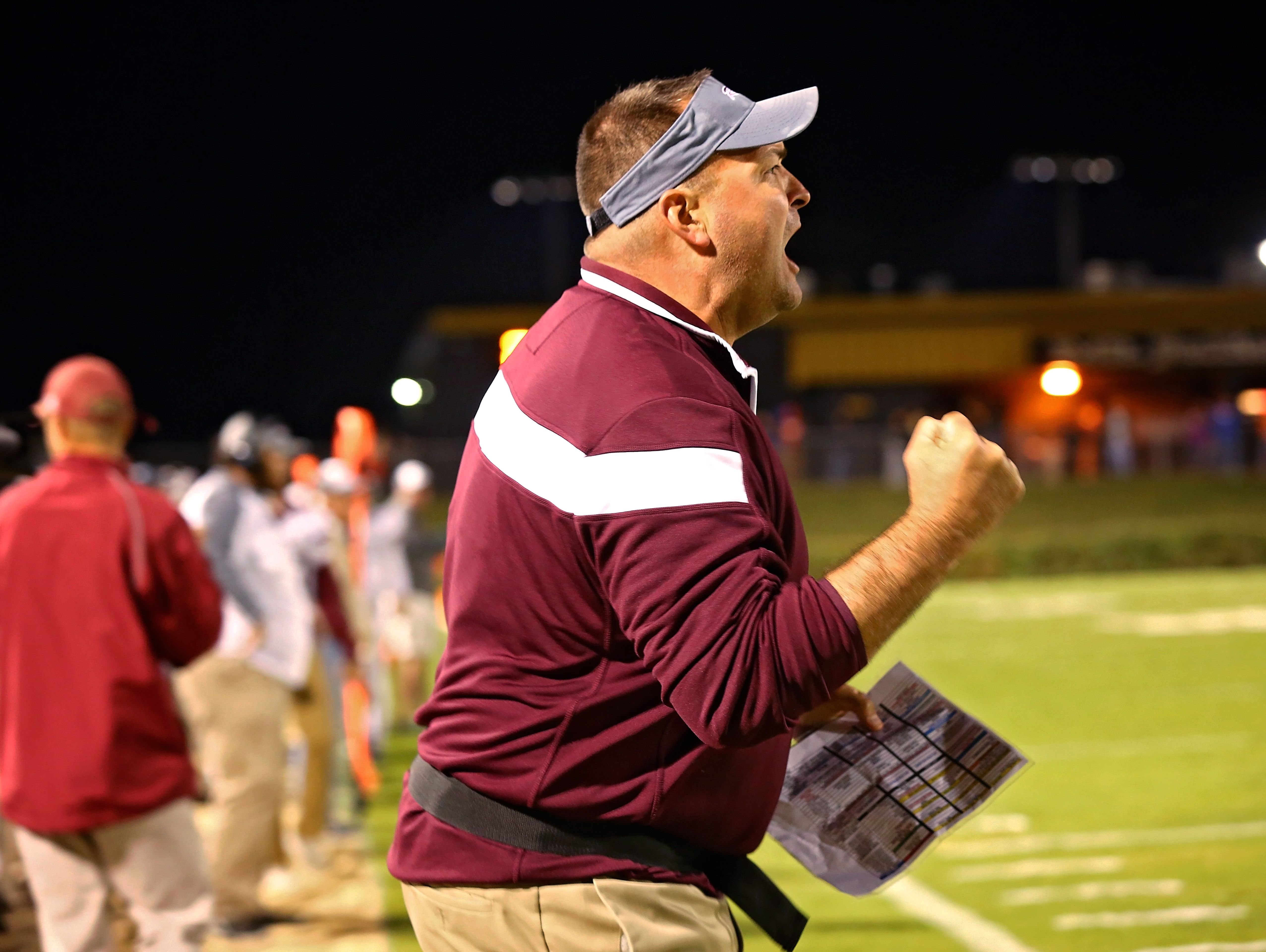 Franklin head coach Donnie Webb on the sidelines.