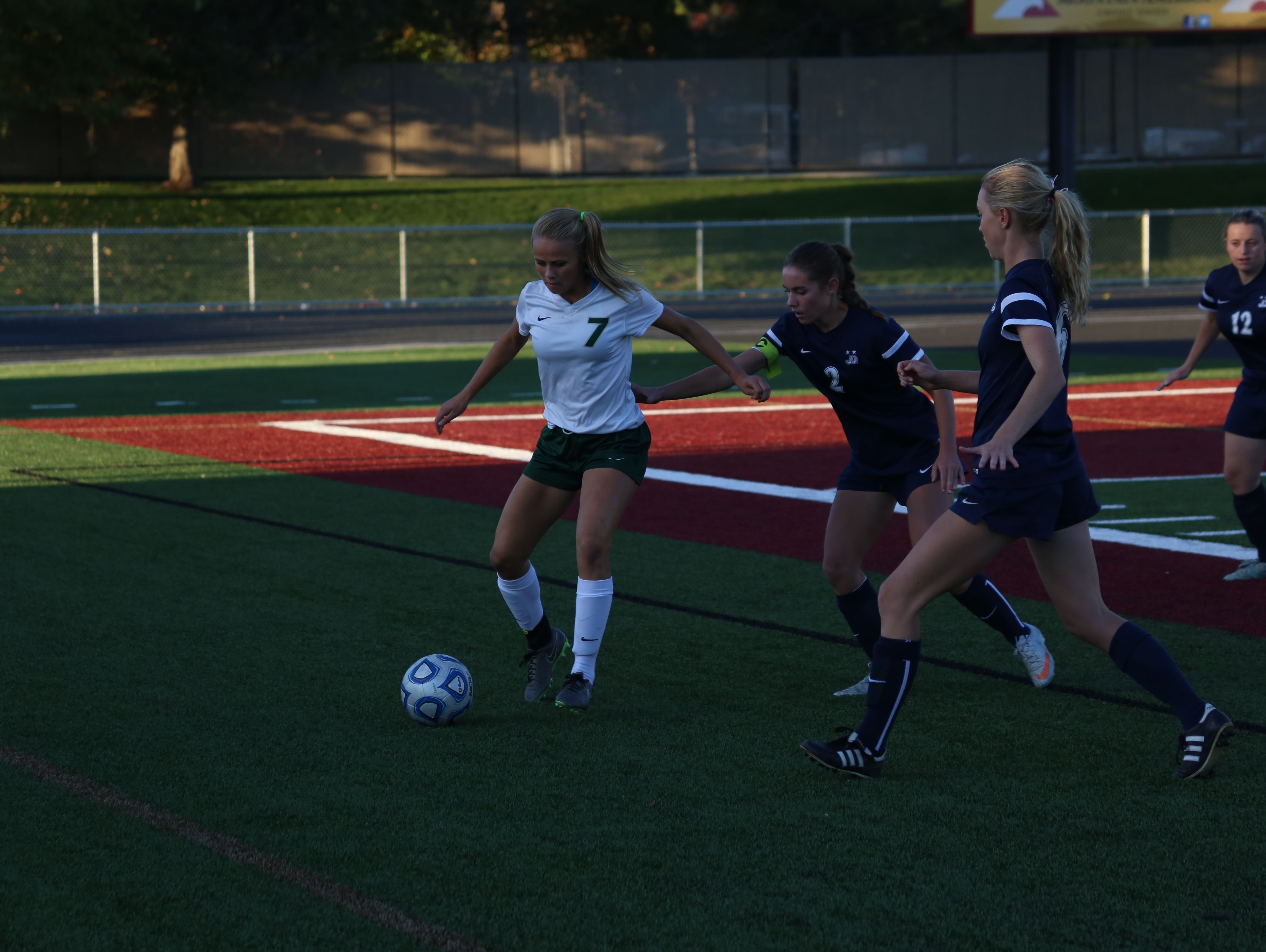 Juan Diego scored five unanswered goals to defeat Snow Canyon 5-1 at Jordan High School in the 3A semifinal game. The Soaring Eagle will play Logan at Rio Tinto Stadium for the 3A championship. Brielle Hoskins scored the only goal of the game for the Warriors.