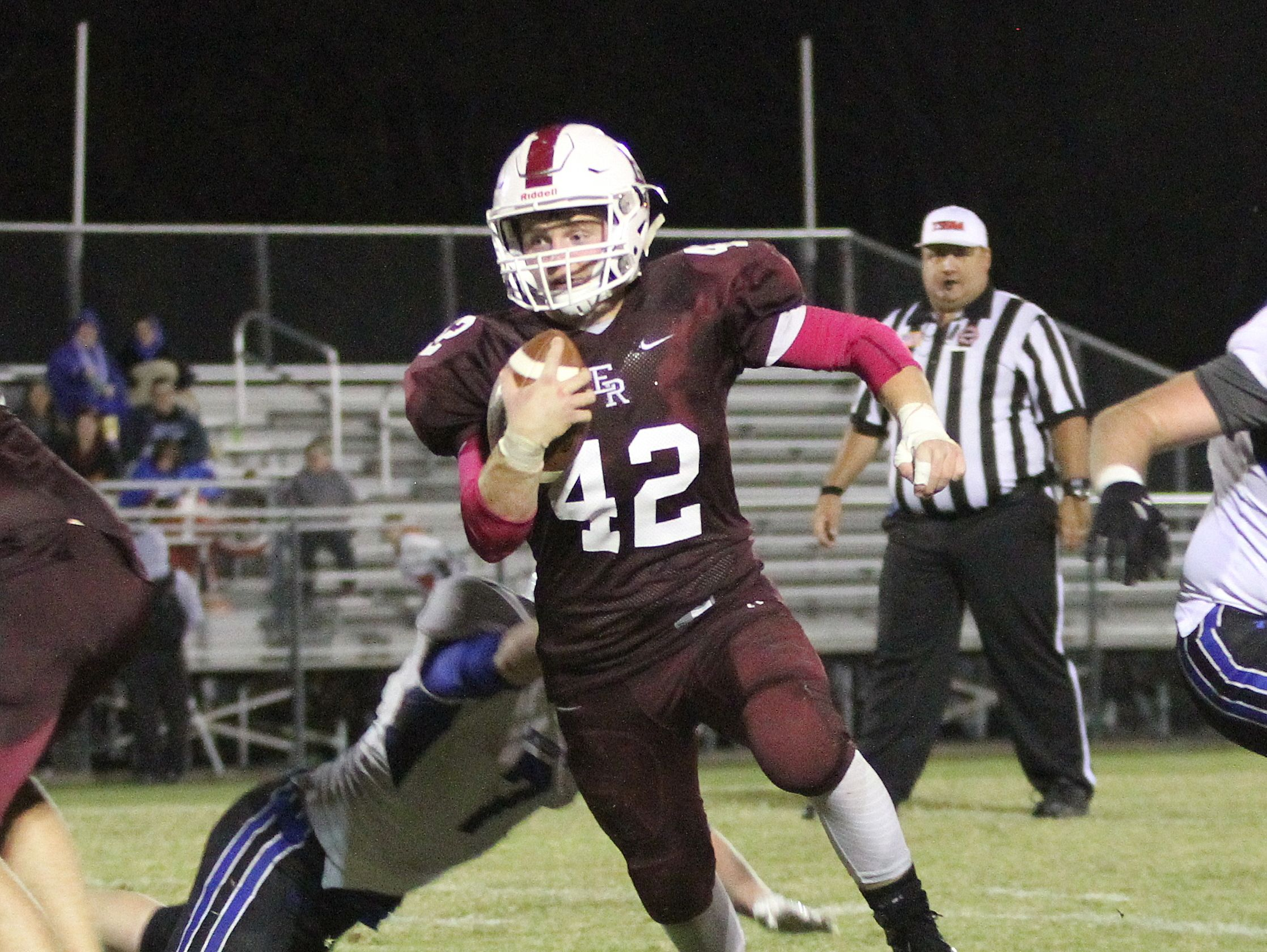 Johnny Lyons was the sum of the East Robertson offense Friday night.