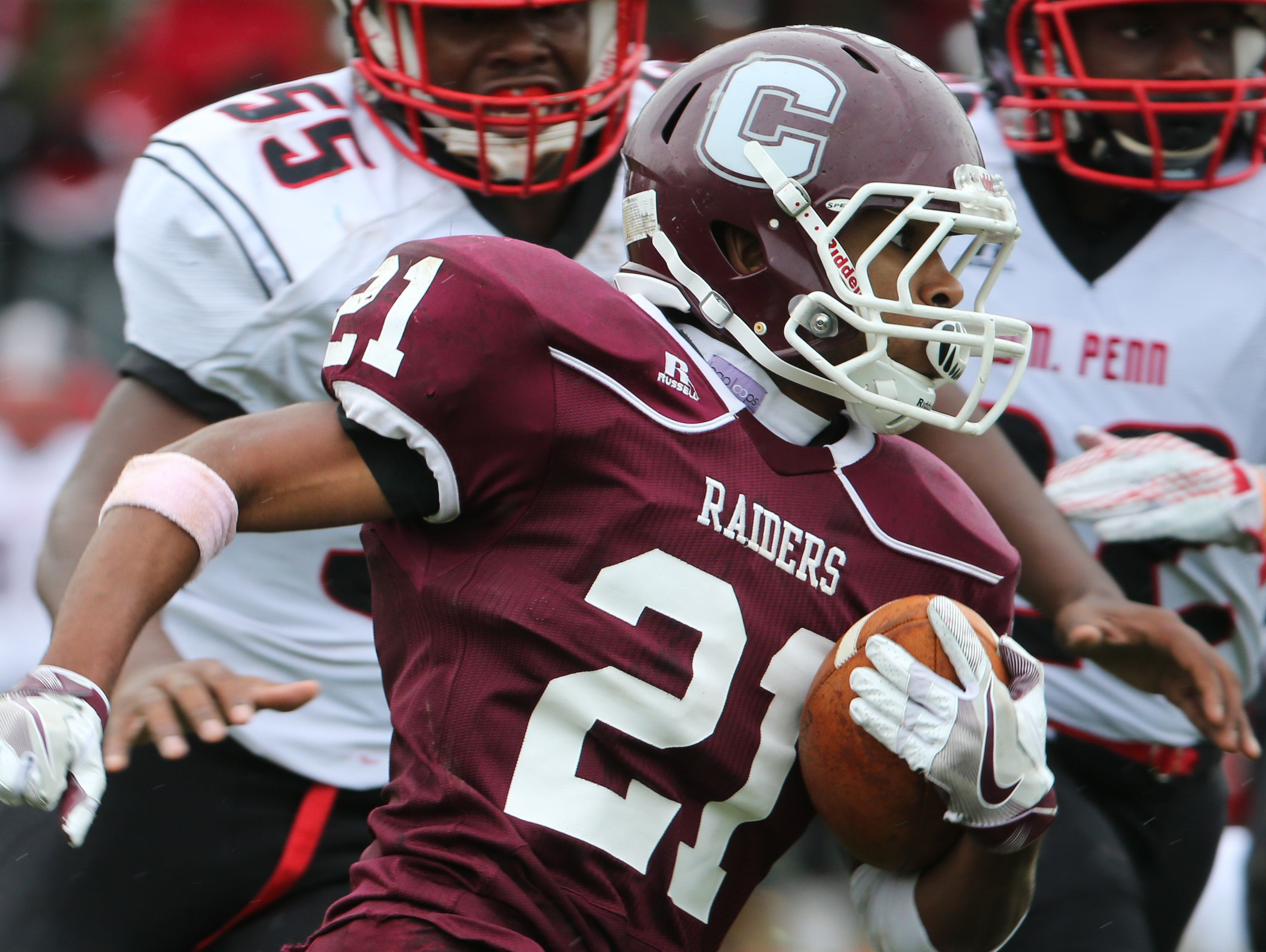 Concord's Kyle Batch runs the ball in the fourth quarter.
