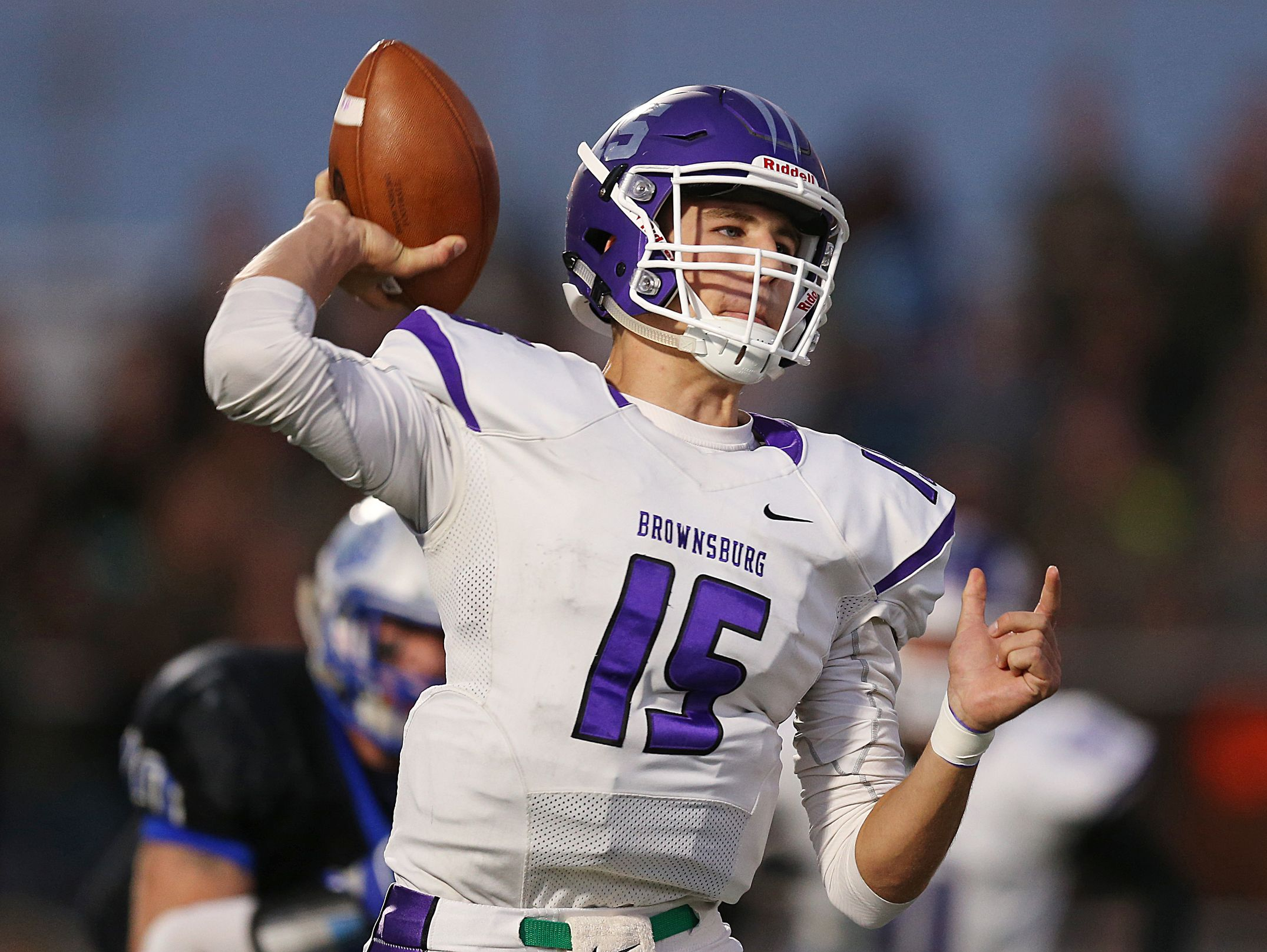 The nation's top-rated pro-style QB, Hunter Johnson led Brownsburg to a Hoosier Crossroads Conference title.