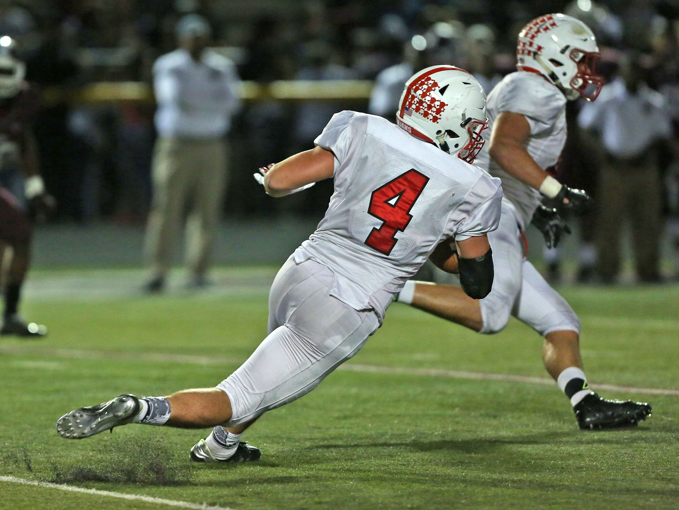 Center Grove's Bailey Bennett (4) has been a two-way threat for the Trojans.