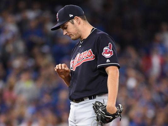 Trevor Bauer was teammates with Cub reliever Mike Montgomery at Hart High School in California. ((Photo: Nick Turchiaro, USA TODAY Sports)