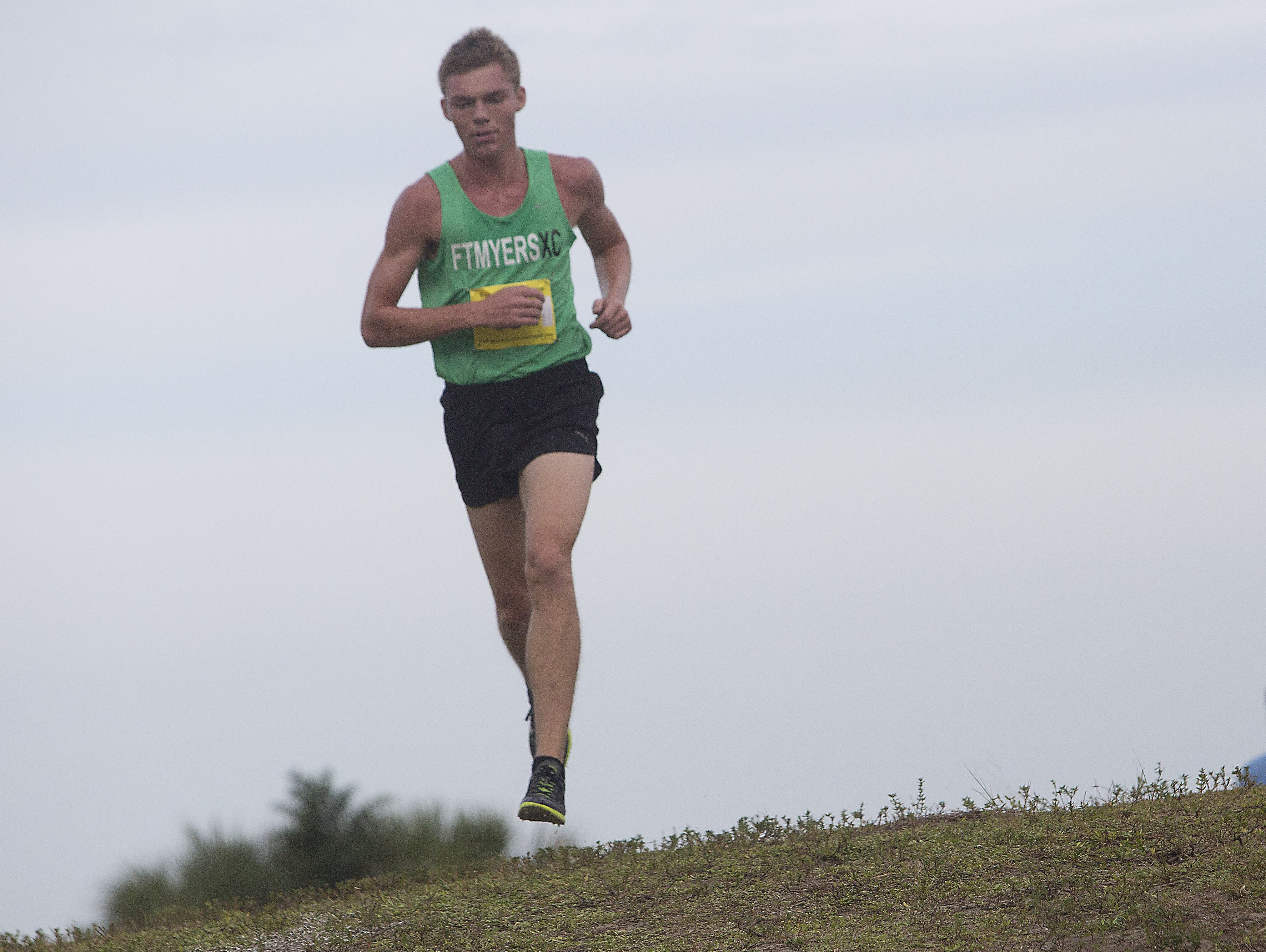 Fort Myers High School x-country runner Evan Babatz cruised to the FHSAA 3A District win at Estero Community Center on Friday.