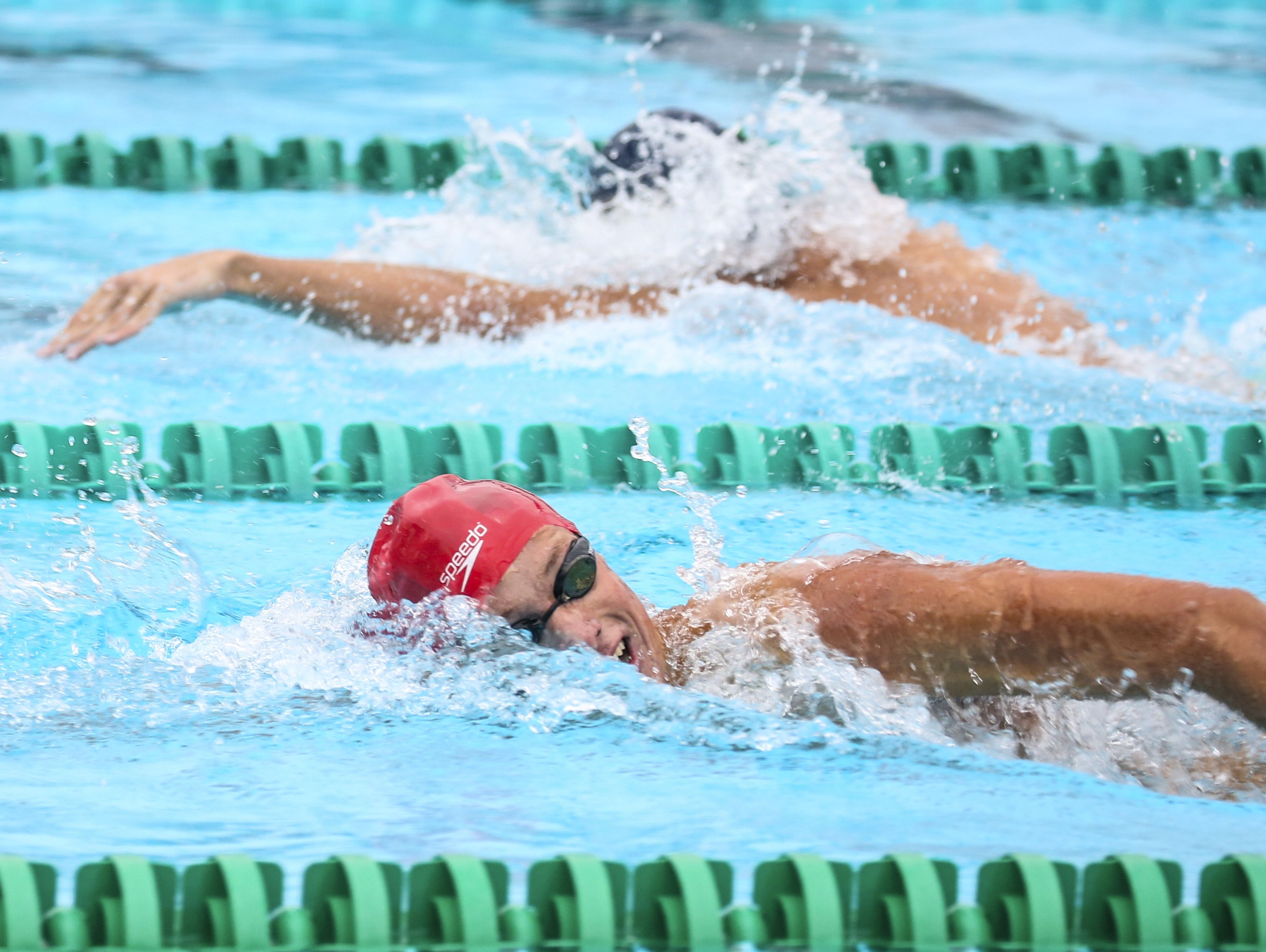 Clay Riemenschneider Fort Myers, won the third heat of the 200 yard freestyle during the Region 3A-3 swimming at FGCU Aquatic Center.
