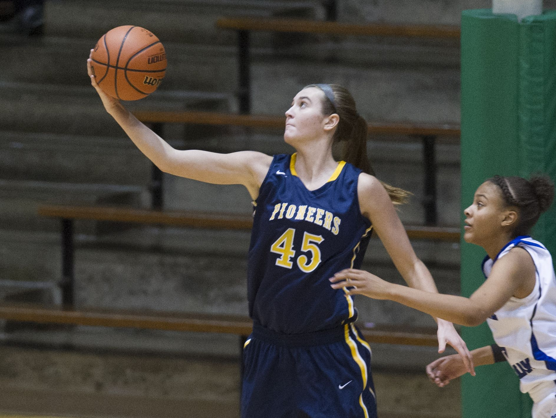 Mooresville's Amanda Worland (45) is one of the top post players in the area.