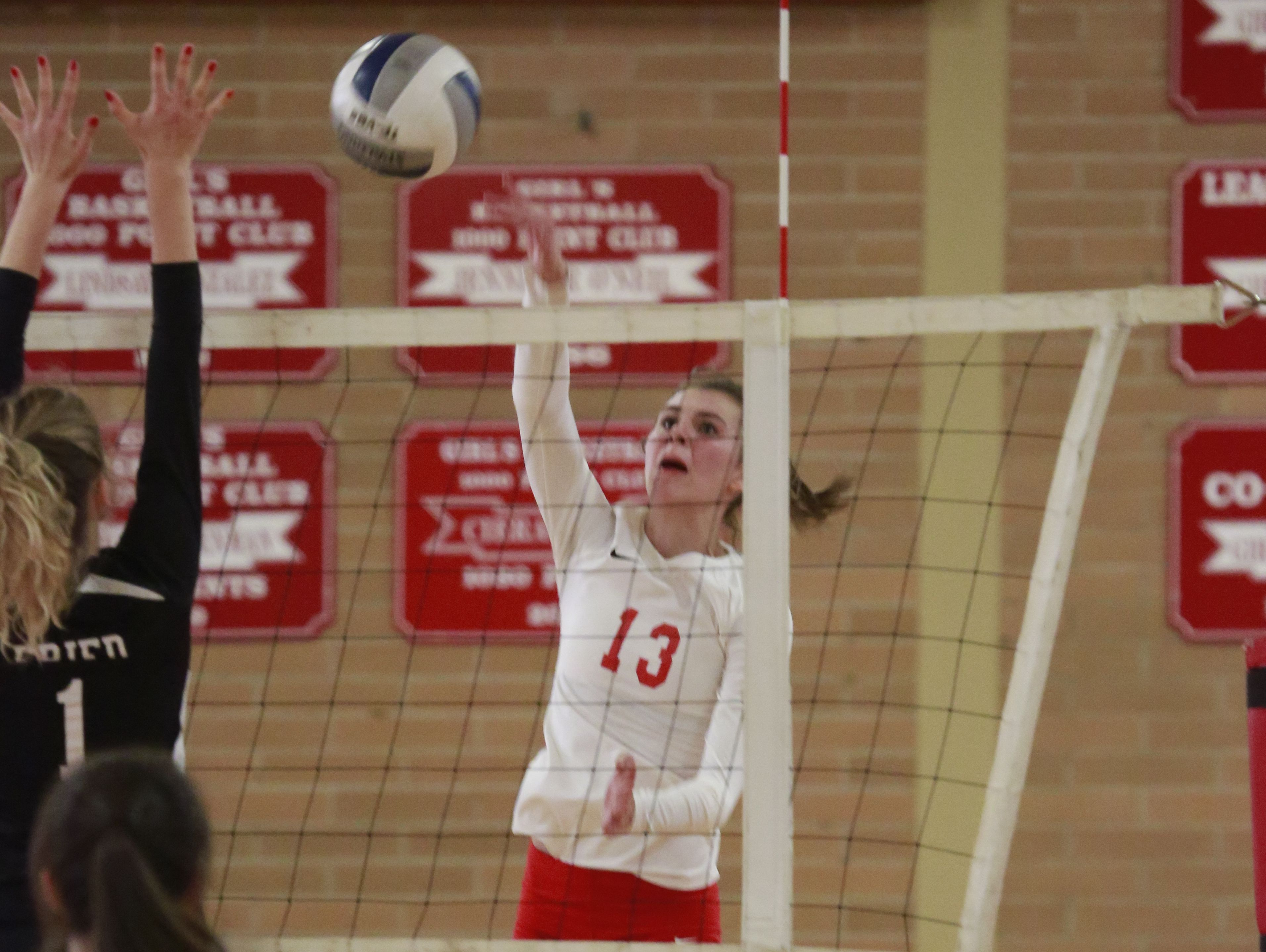 The North Rockland volleyball plays against Scarsdale at North Rockland High School in Thiells on Oct. 31, 2016.